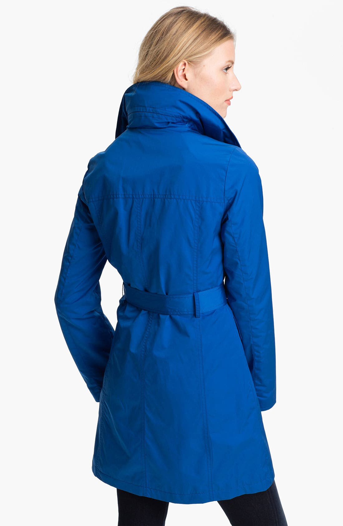 Alternate Image 2  - Ellen Tracy Fly Front Trench Coat