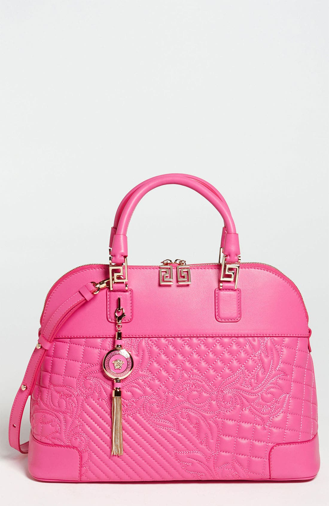 Main Image - Versace 'Vanitas' Embroidered Leather Satchel