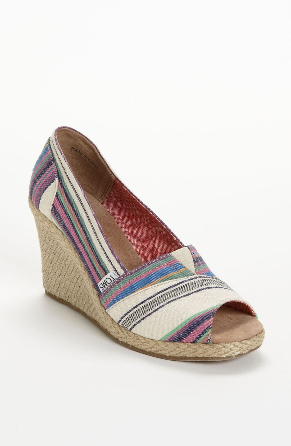 Alternate Image 1 Selected - TOMS 'Village Stripe' Wedge