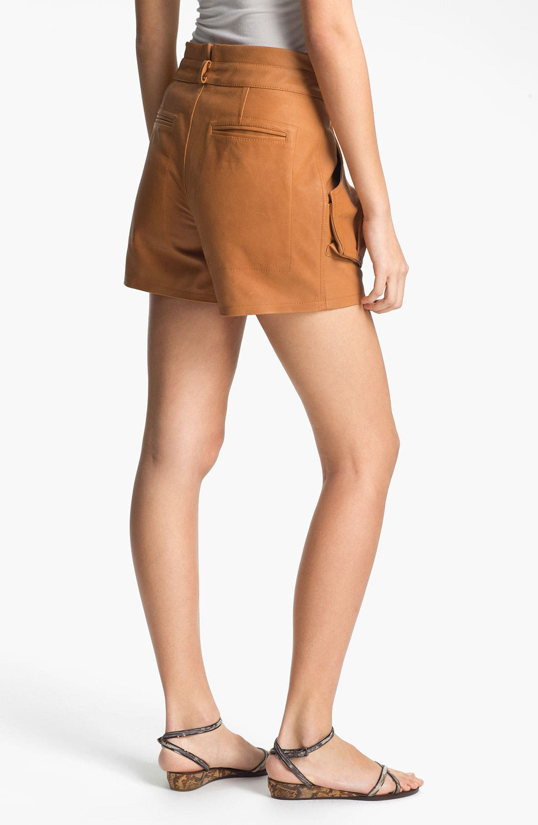 Alternate Image 2  - A.L.C. 'Cash' Leather Shorts