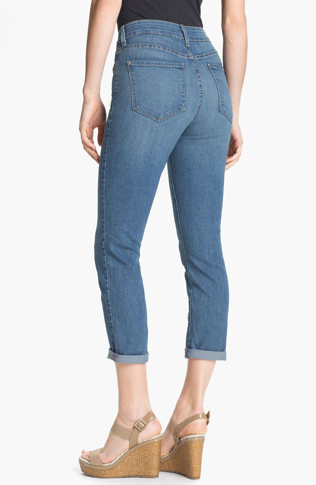 Alternate Image 2  - NYDJ 'Tanya' Cuffed Stretch Boyfriend Jeans (Petite)