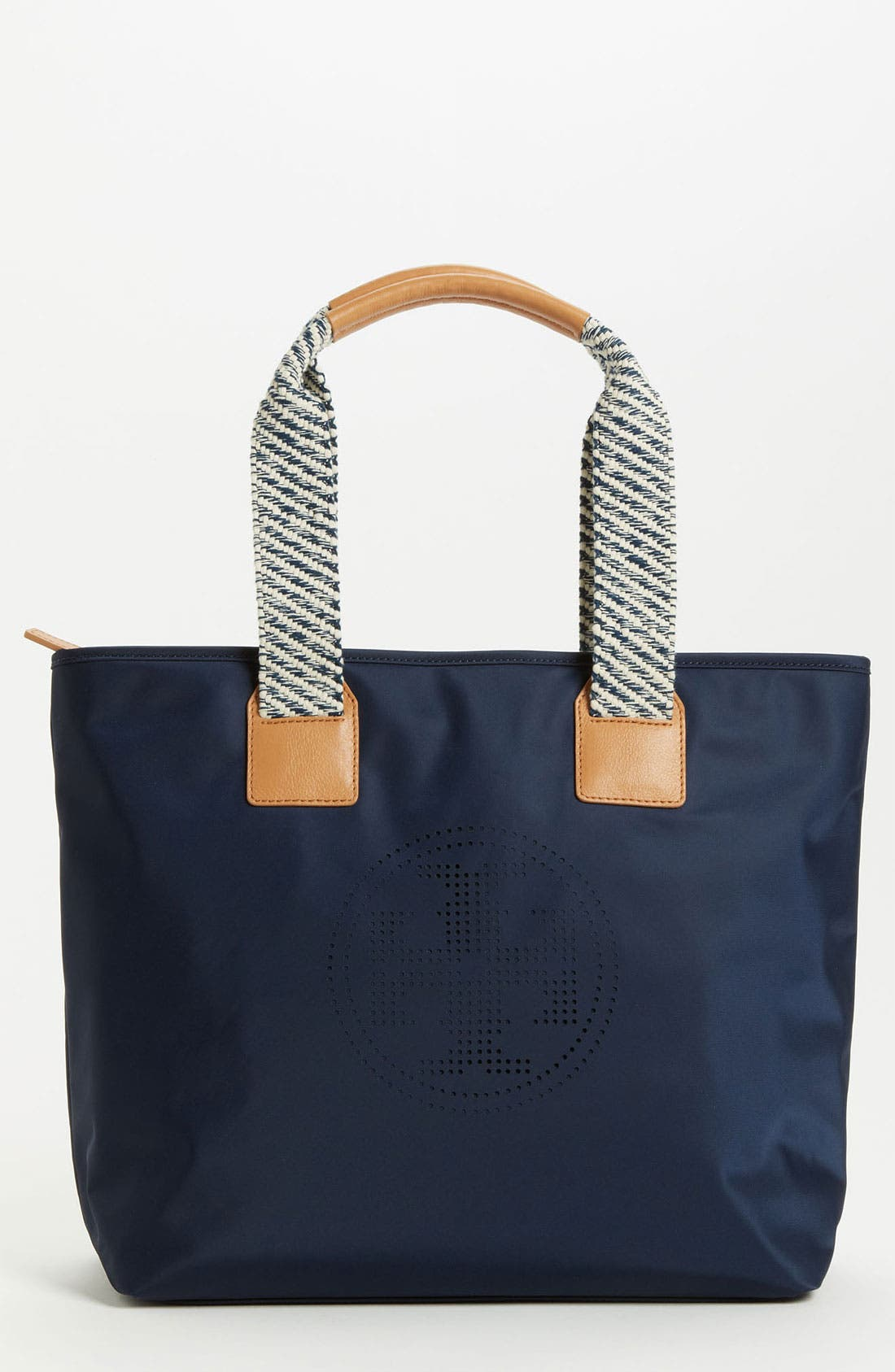 Main Image - Tory Burch 'Small' Perforated Logo Tote