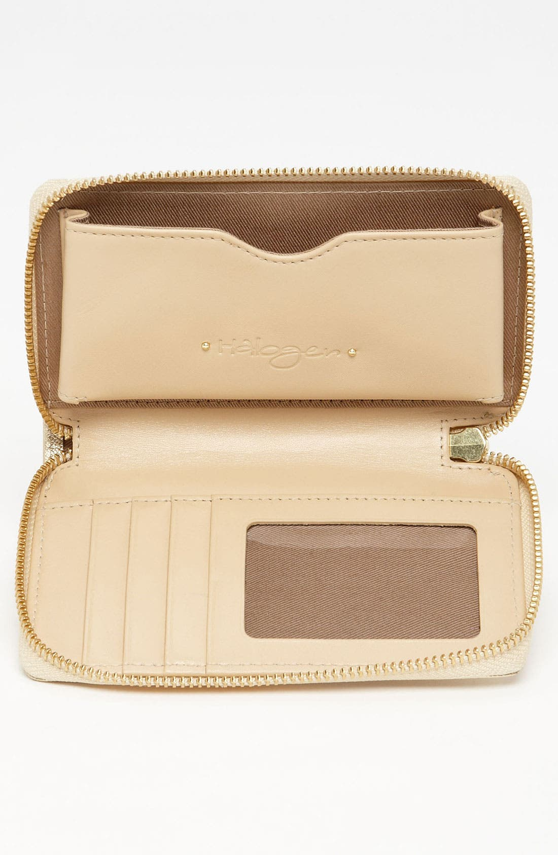 Alternate Image 3  - Halogen® 'Cassie - Small' Leather Wristlet