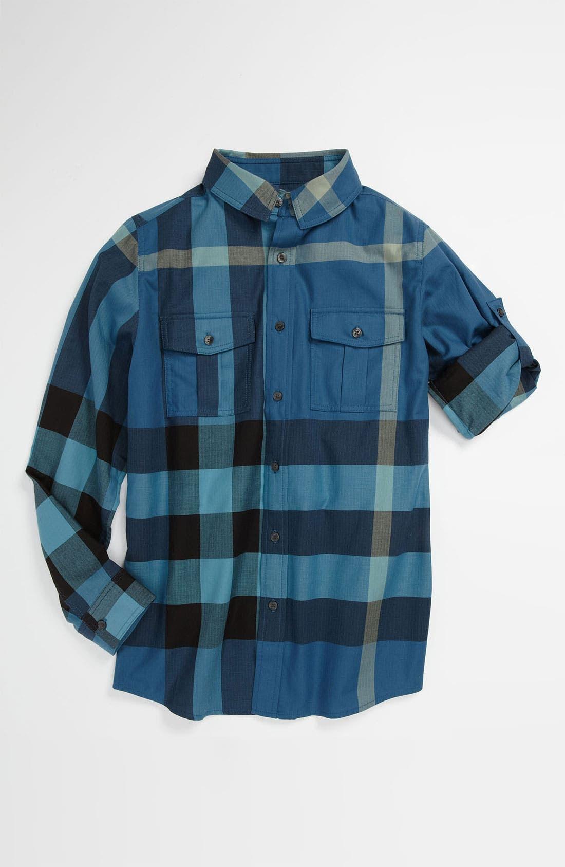Main Image - Burberry 'Slough' Woven Shirt (Big Boys)