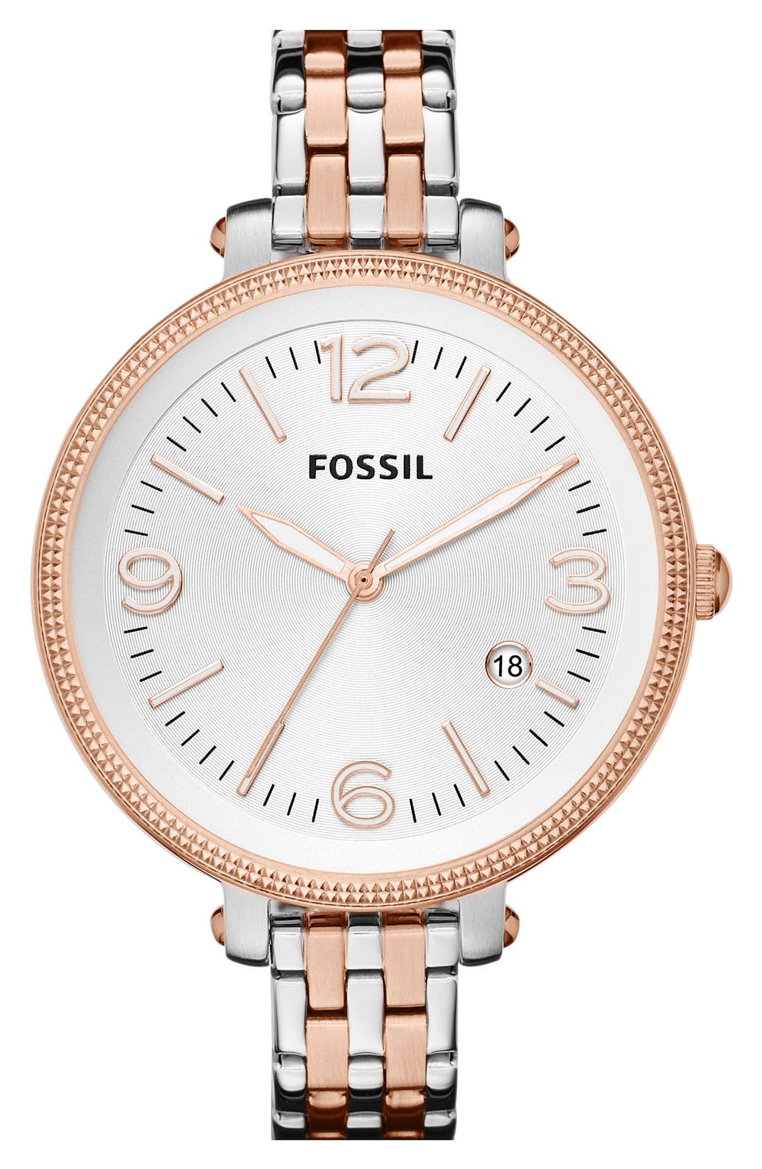 Alternate Image 1 Selected - Fossil 'Heather' Bracelet Watch, 42mm