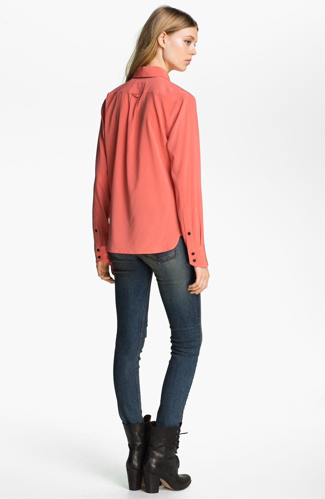 Alternate Image 2  - rag & bone '88' Silk Shirt