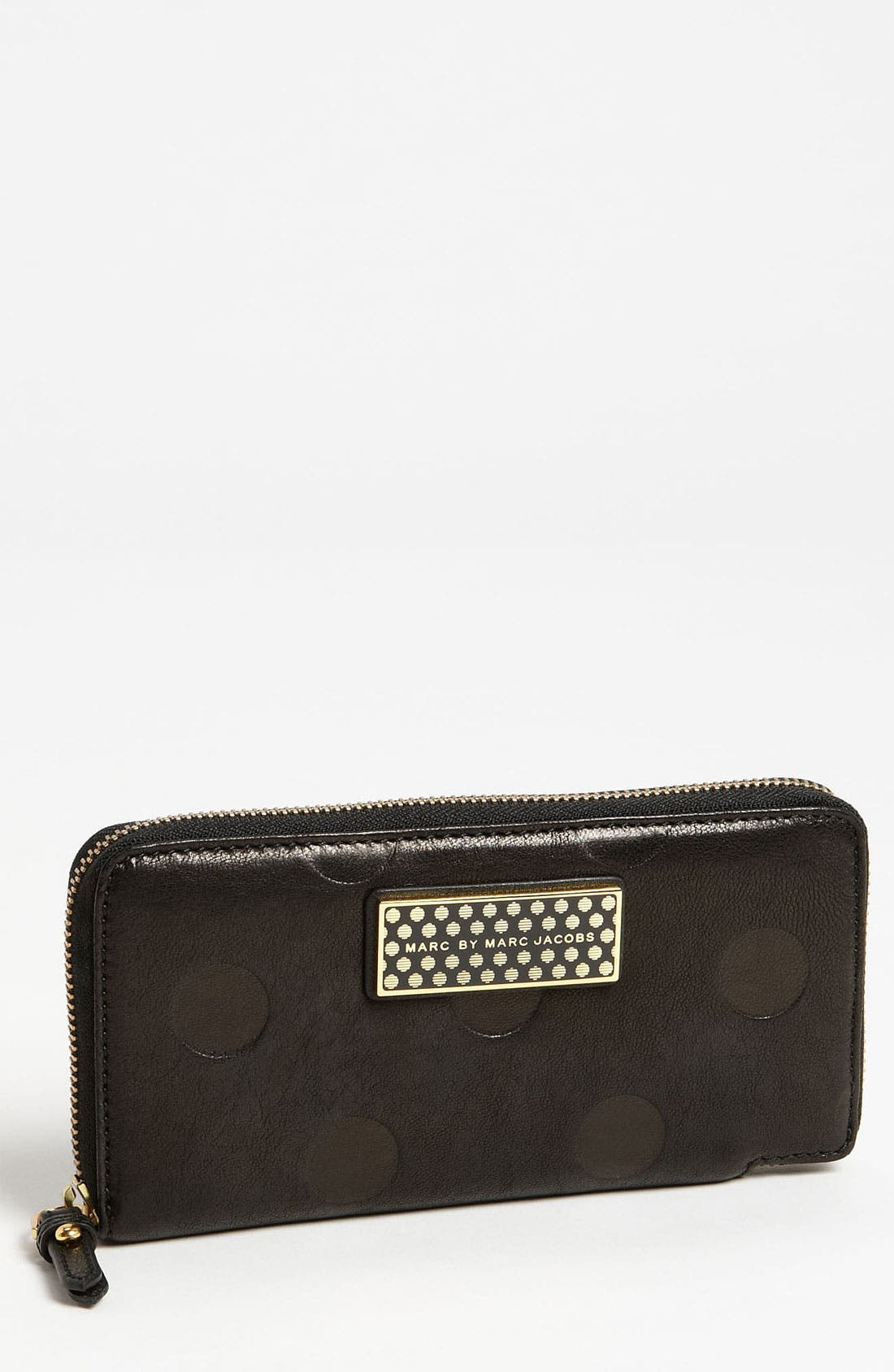 Alternate Image 1 Selected - MARC BY MARC JACOBS 'Flipping Dots - Slim Zippy' Leather Wallet