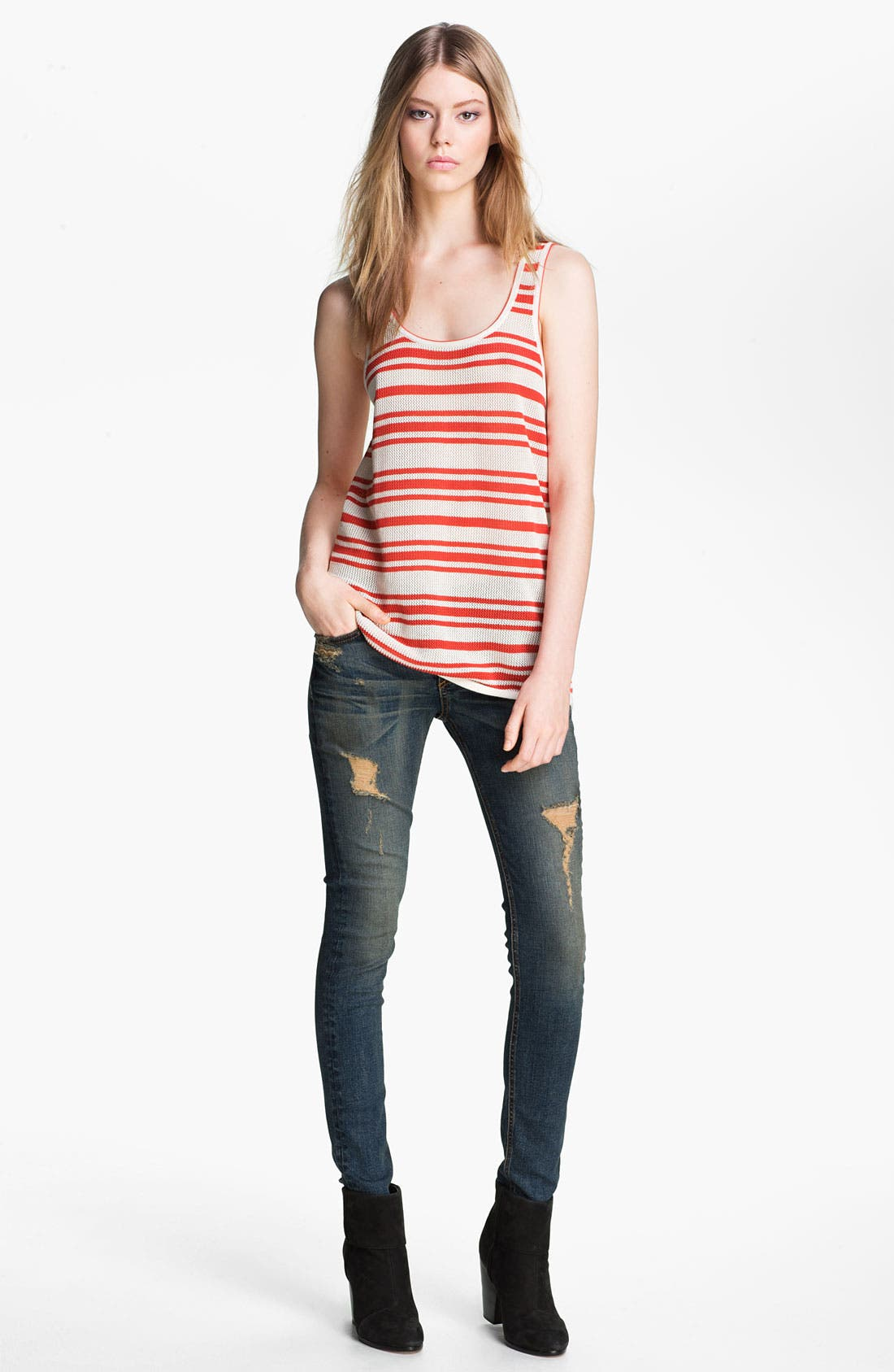 Alternate Image 1 Selected - rag & bone/JEAN 'Kathie' Stripe Tank