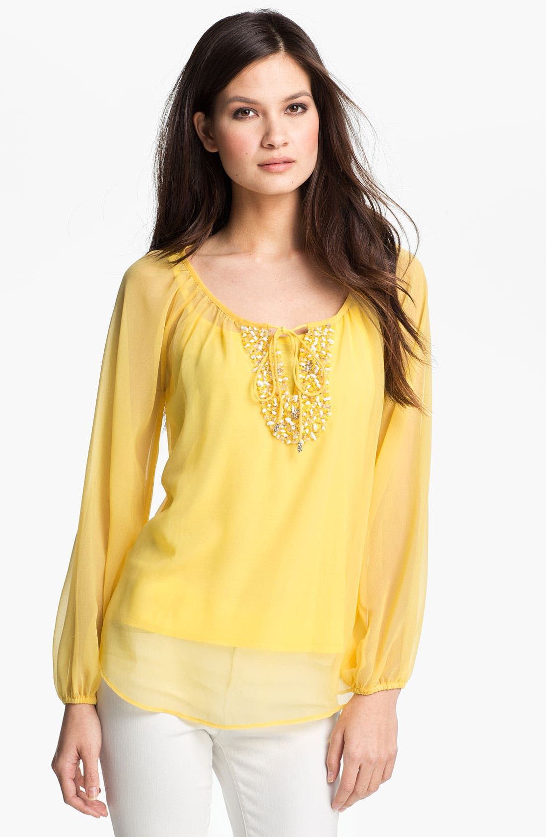 Alternate Image 1 Selected - Kay Celine Beaded Tunic with Camisole