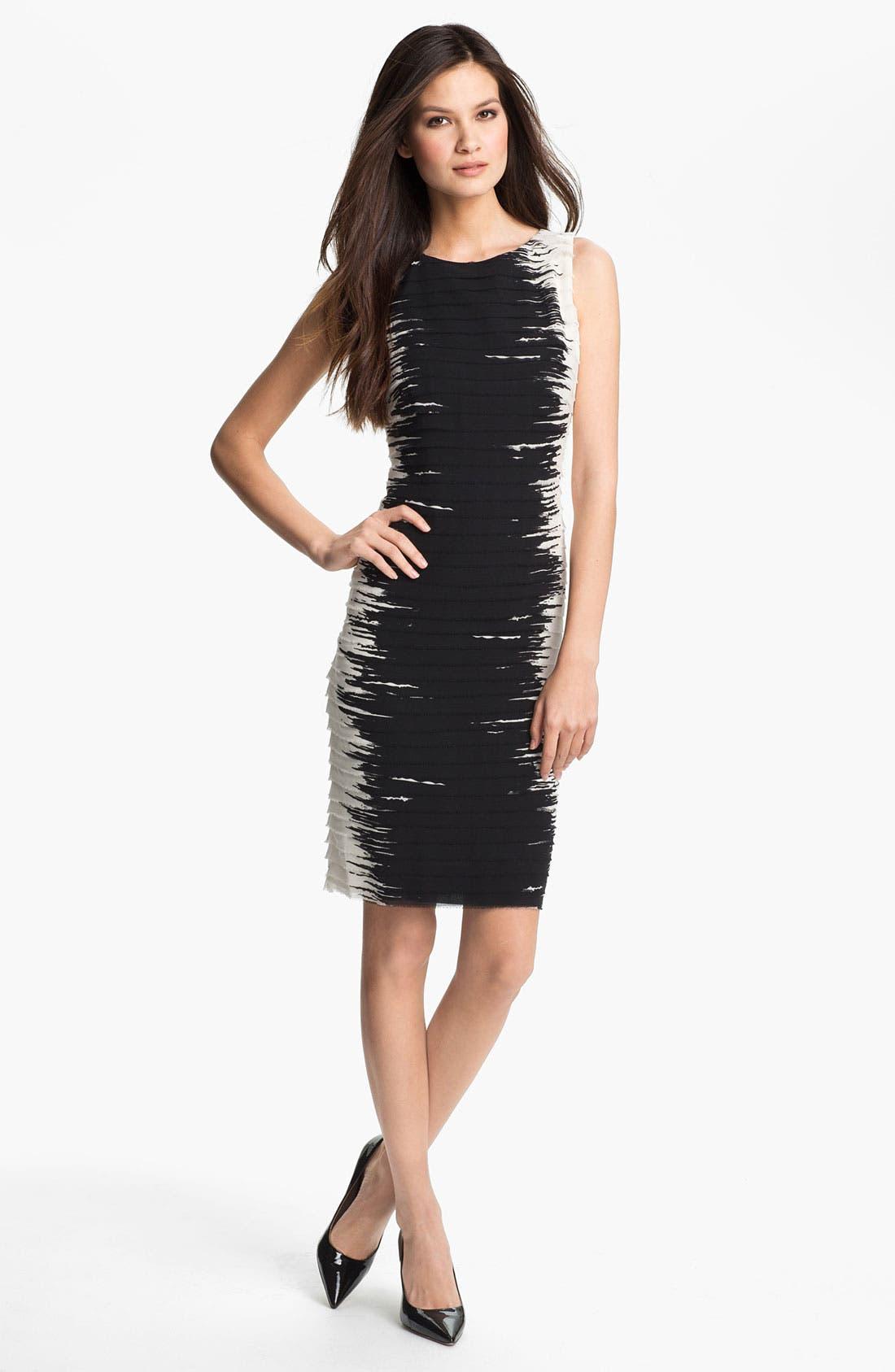 Alternate Image 1 Selected - Lafayette 148 New York 'Faith' Silk Georgette Sheath Dress