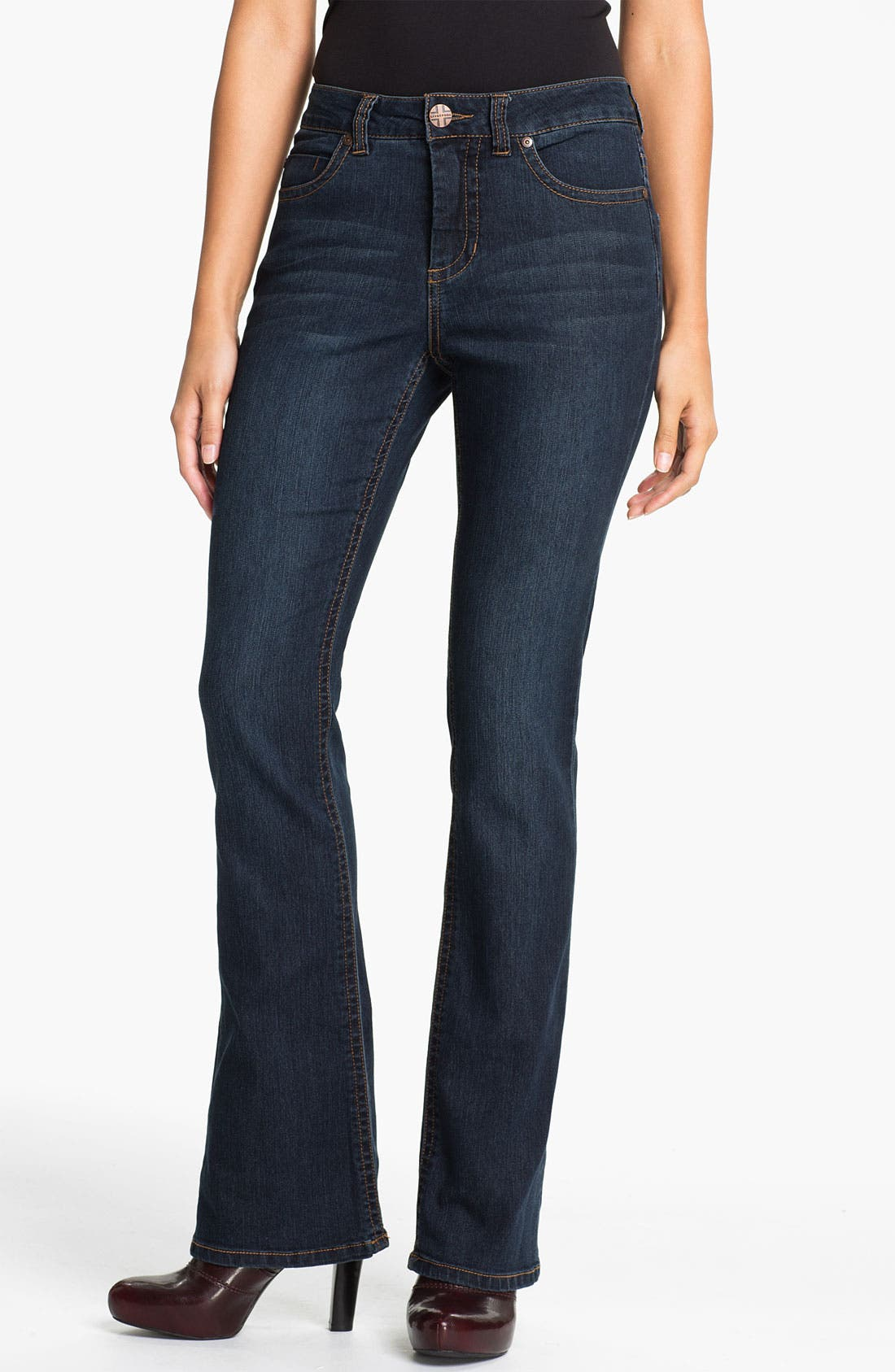 Alternate Image 1 Selected - Liverpool Jeans Company 'Lucy - Brit' Bootcut Stretch Jeans (Petite)