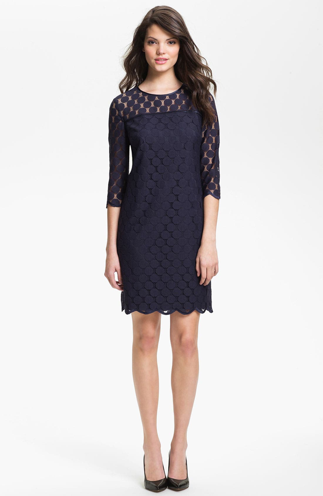 Main Image - Adrianna Papell Illusion Yoke Lace Sheath Dress