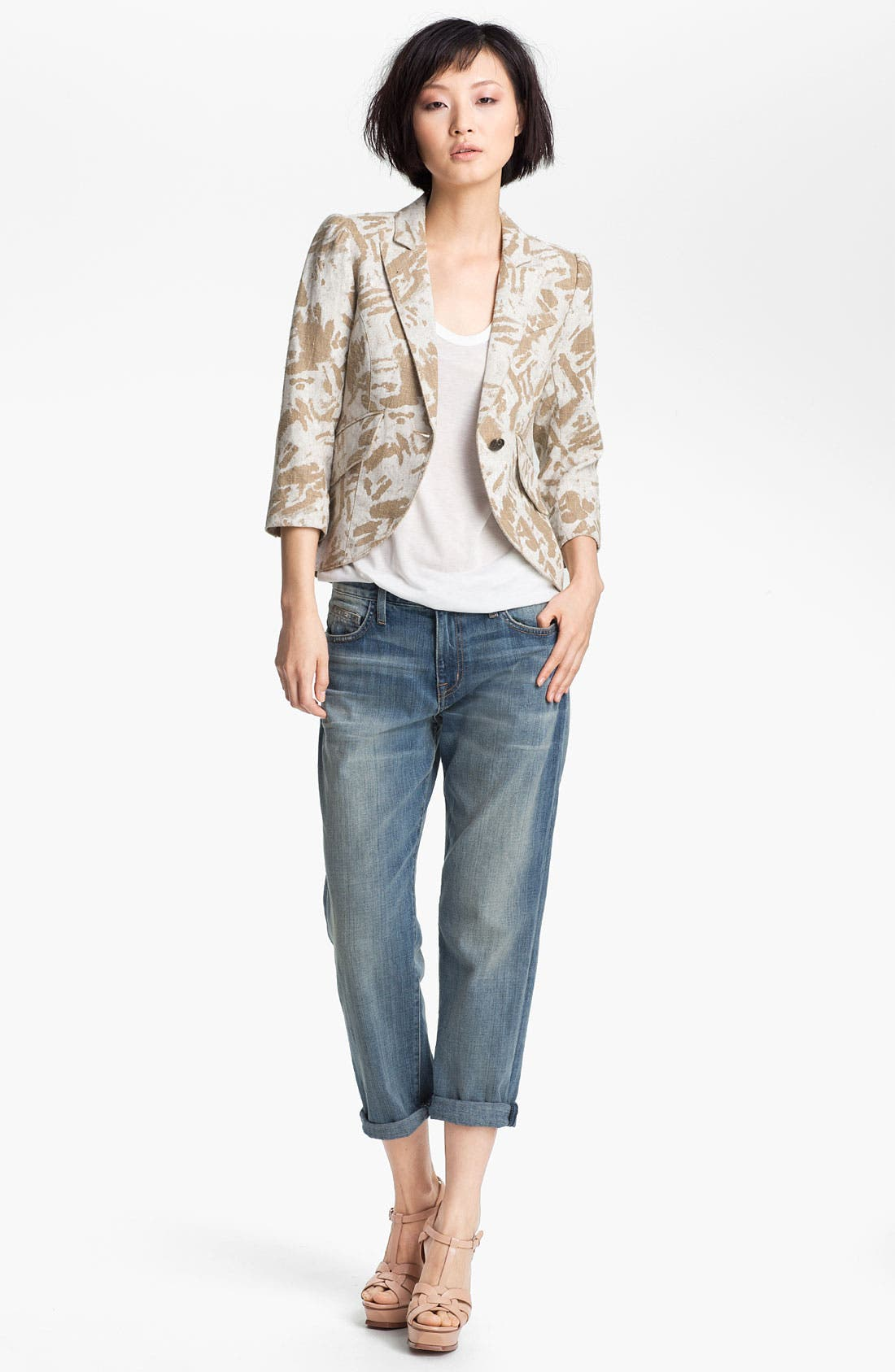 Alternate Image 1 Selected - Smythe Graffiti Print Puff Sleeve Blazer