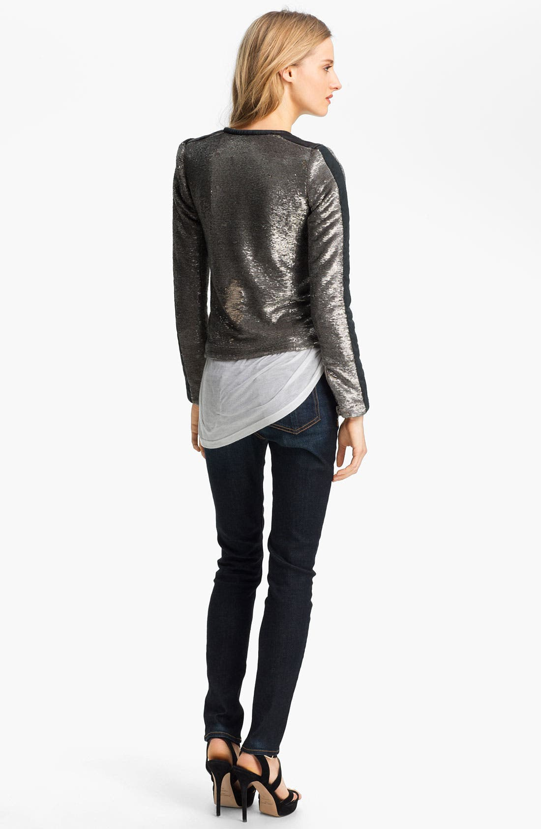 Alternate Image 5  - IRO Collarless Sequin Jacket