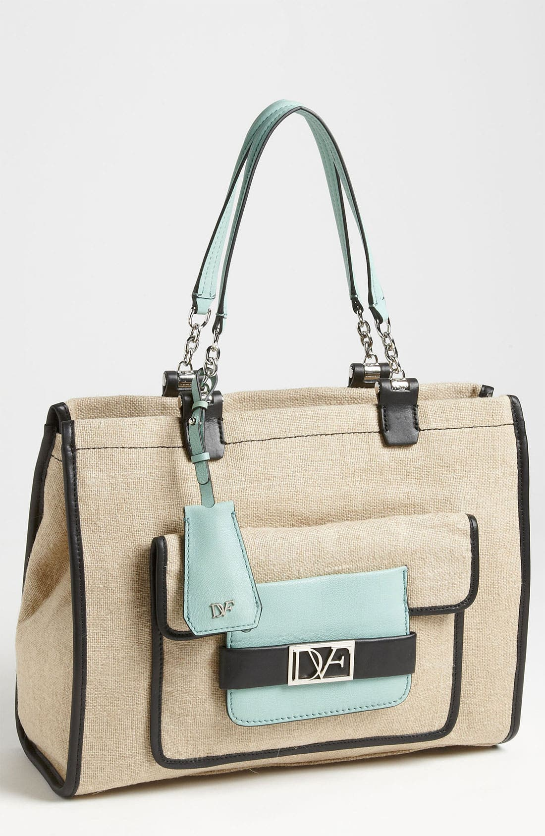 Alternate Image 1 Selected - Diane von Furstenberg 'Lola' Linen Handbag