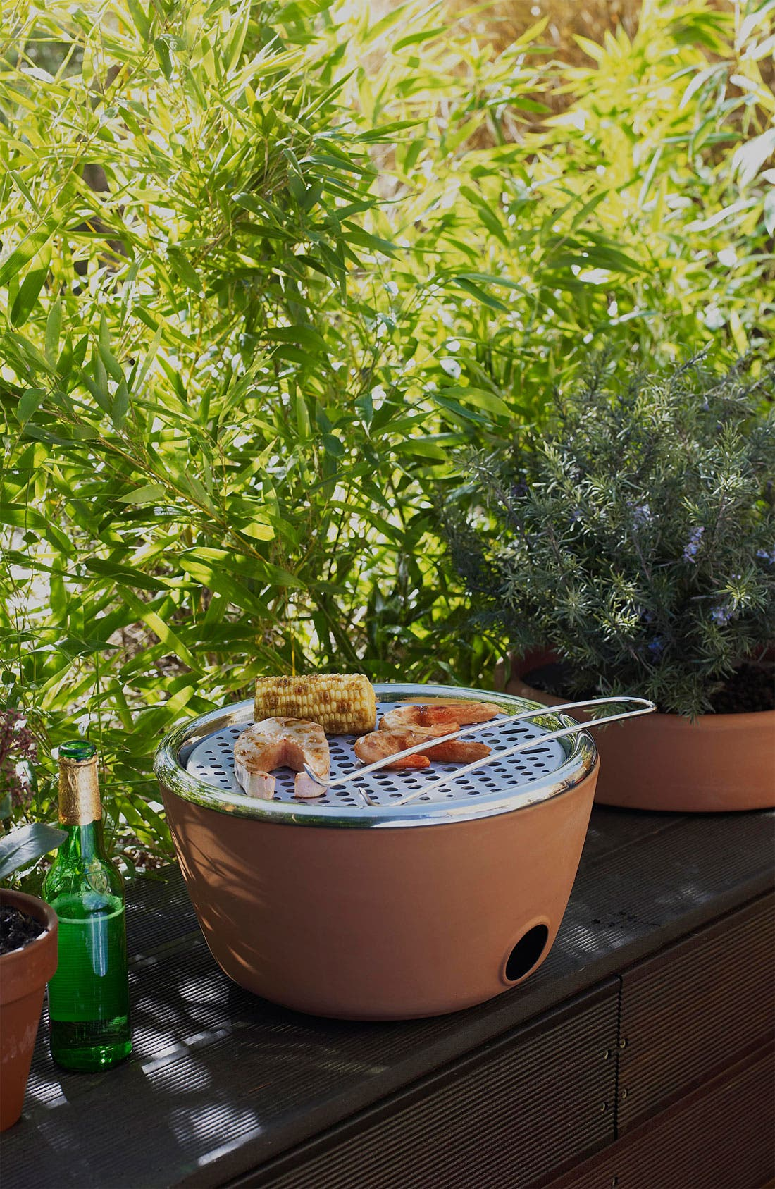 Alternate Image 2  - black+blum Two-in-One Planter & Barbecue