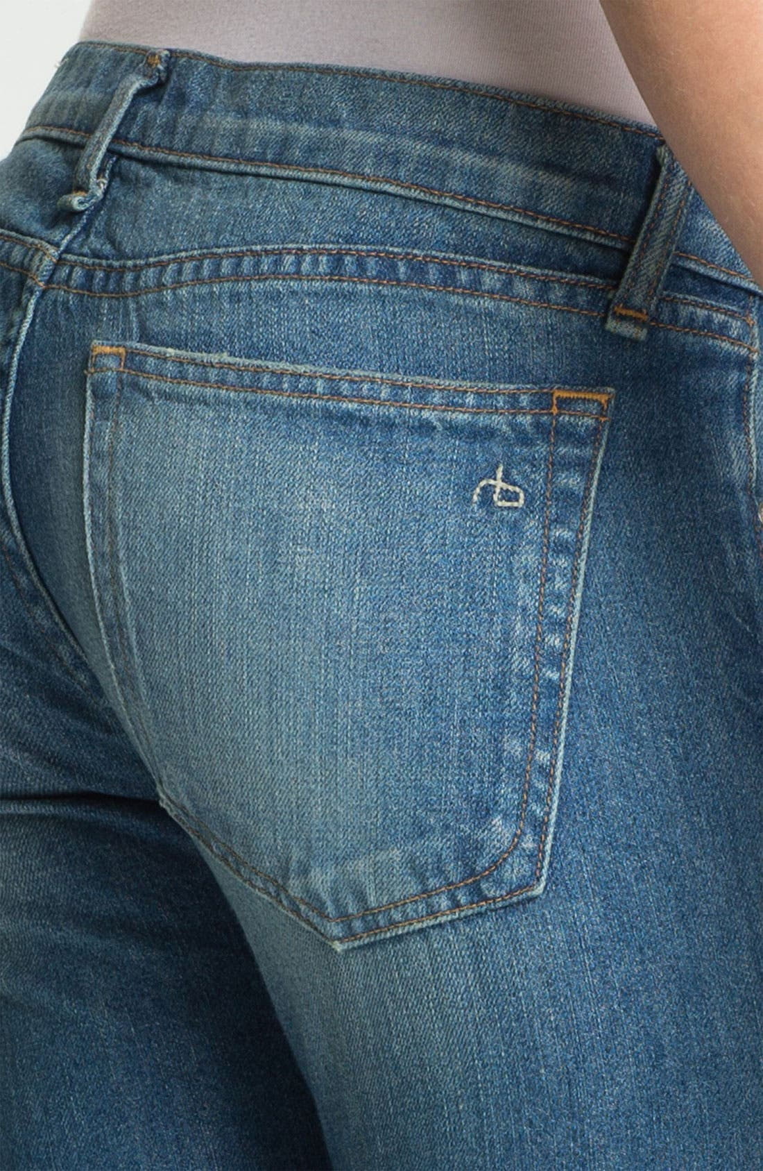 Alternate Image 4  - rag & bone/JEAN 'The Dre' Patch Detail Rigid Jeans