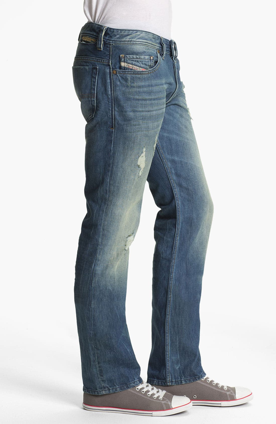 Alternate Image 3  - DIESEL® 'Safado' Slim Straight Leg Jeans (0075I) (Online Only)