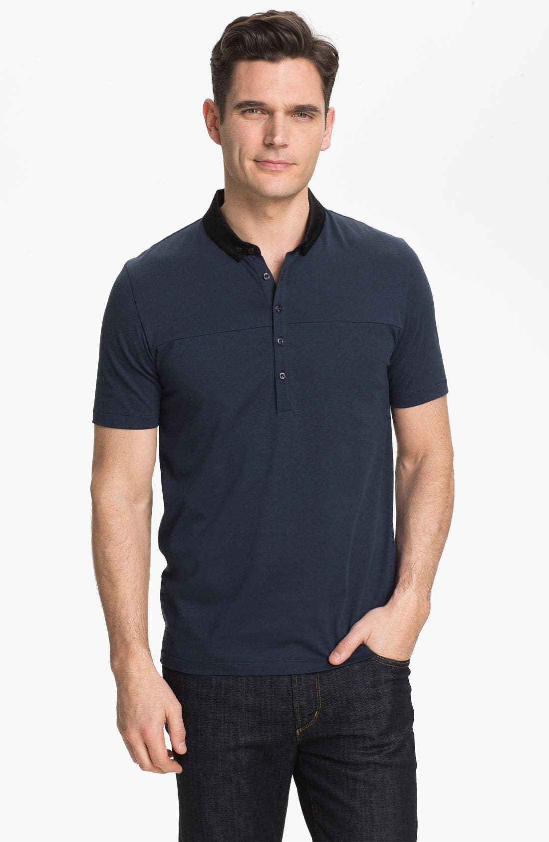 Alternate Image 1 Selected - HUGO 'Dandroid' Trim Fit Polo