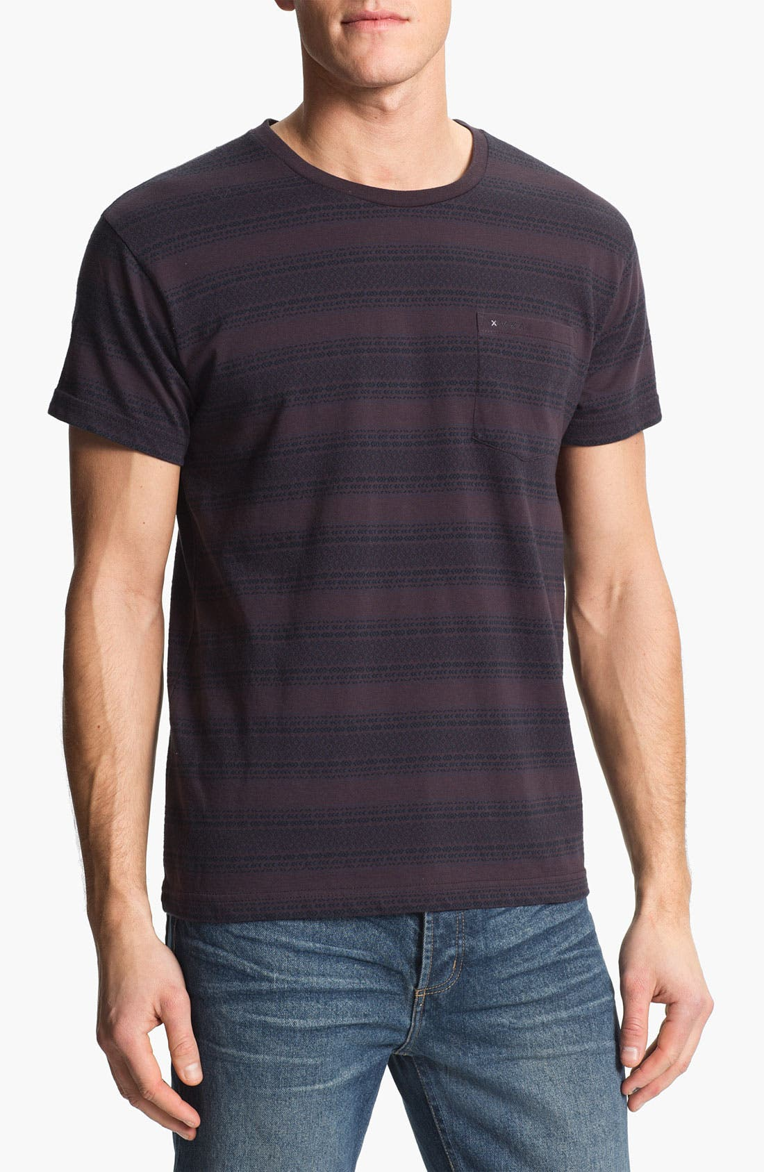 Main Image - RVCA 'Shaman' Stripe Crewneck T-Shirt
