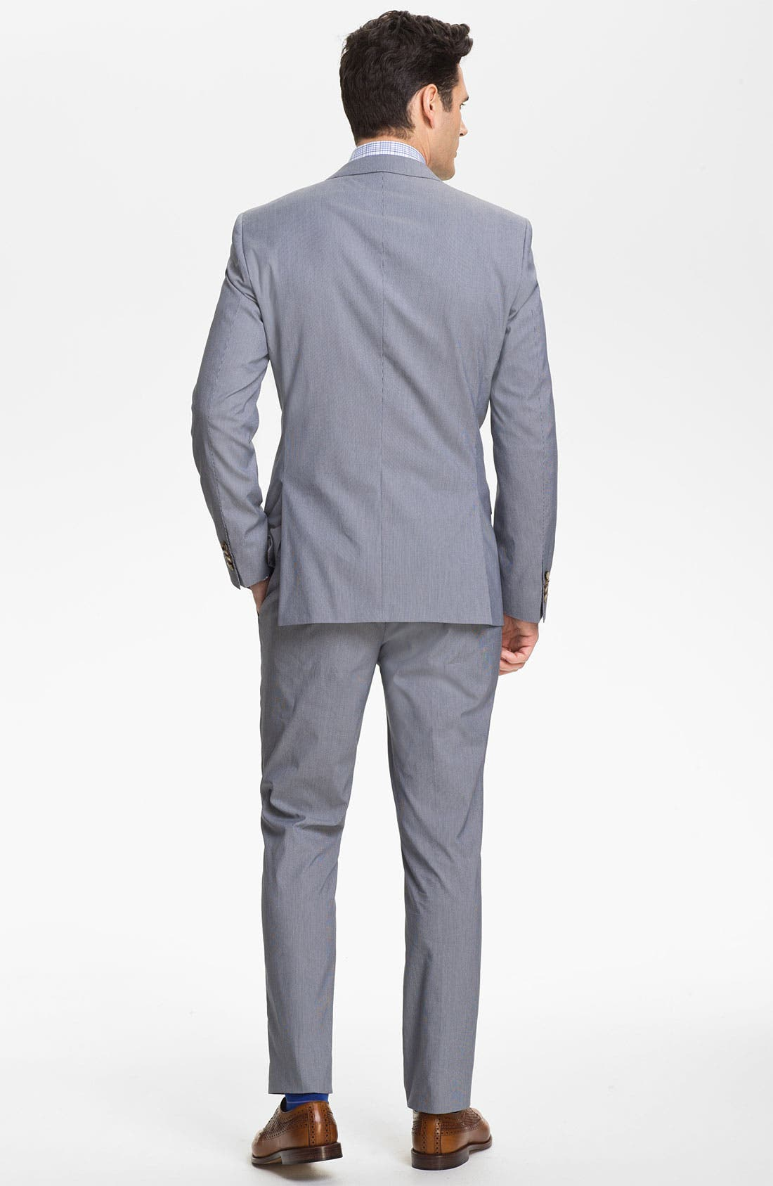 Alternate Image 3  - BOSS Black 'Huge/Genius' Trim Fit Cotton Blend Suit