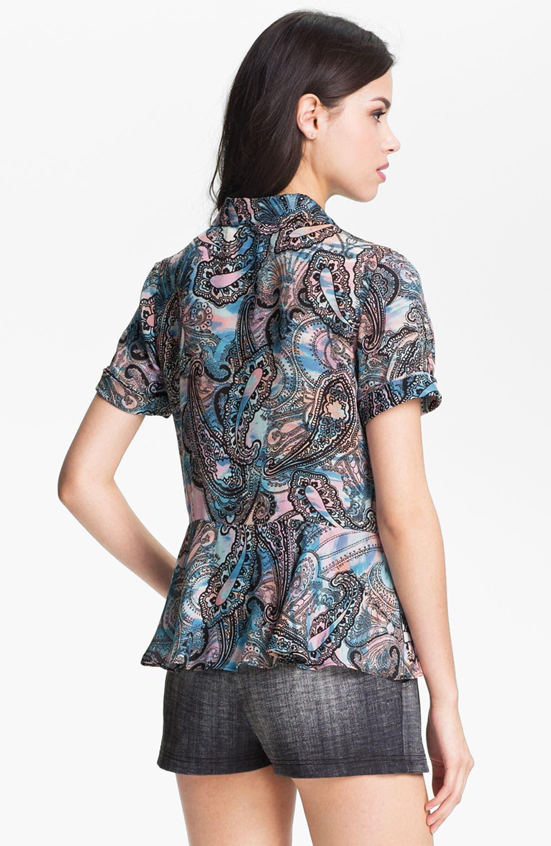 Alternate Image 2  - Rebecca Minkoff 'Casey' Print Silk Top