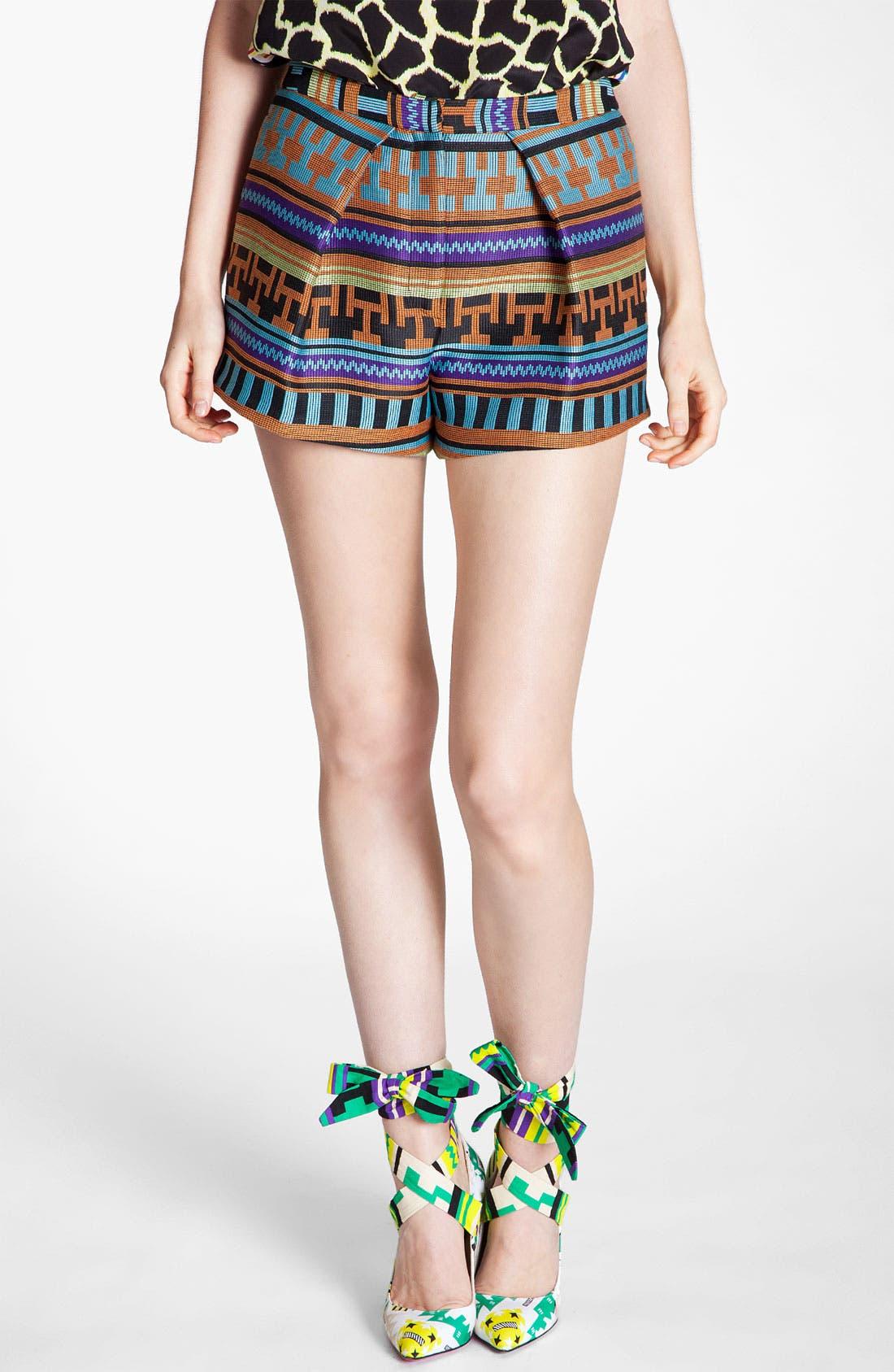 Alternate Image 1 Selected - MSGM Ikat Print Jacquard Shorts