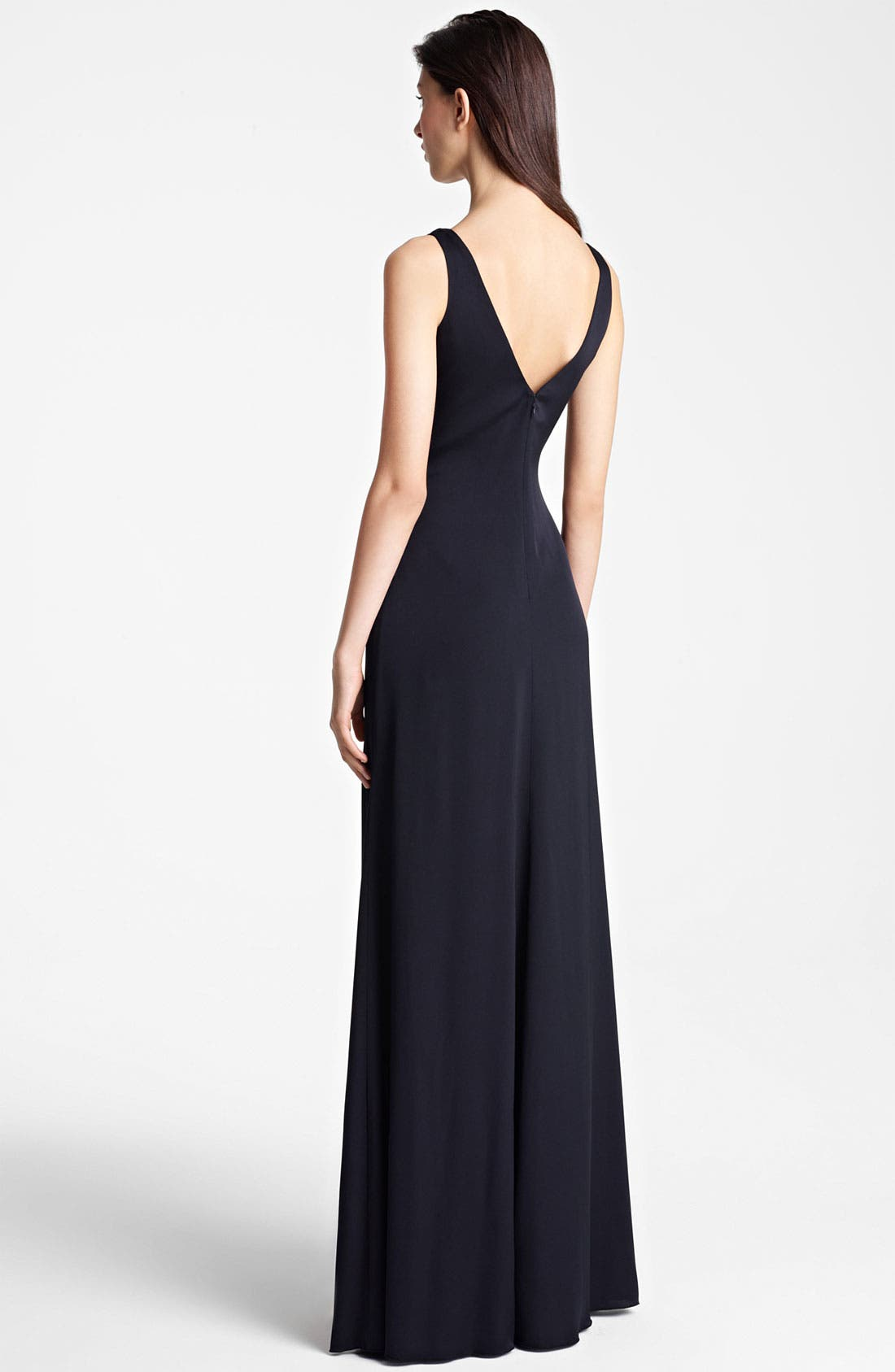 Alternate Image 2  - Armani Collezioni Ruffle Front Gown