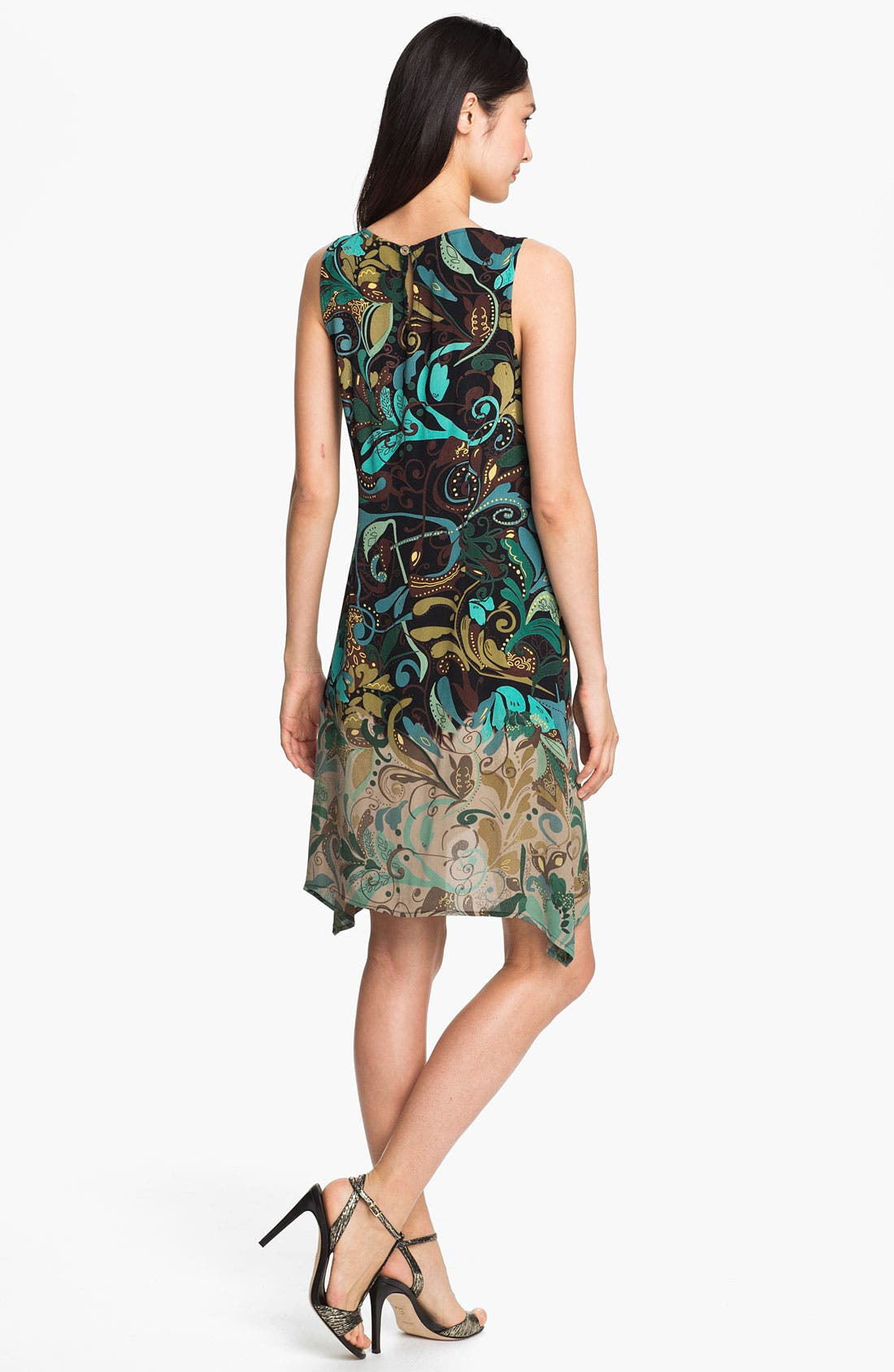 Alternate Image 2  - Citron Ombré Print Crepe Dress
