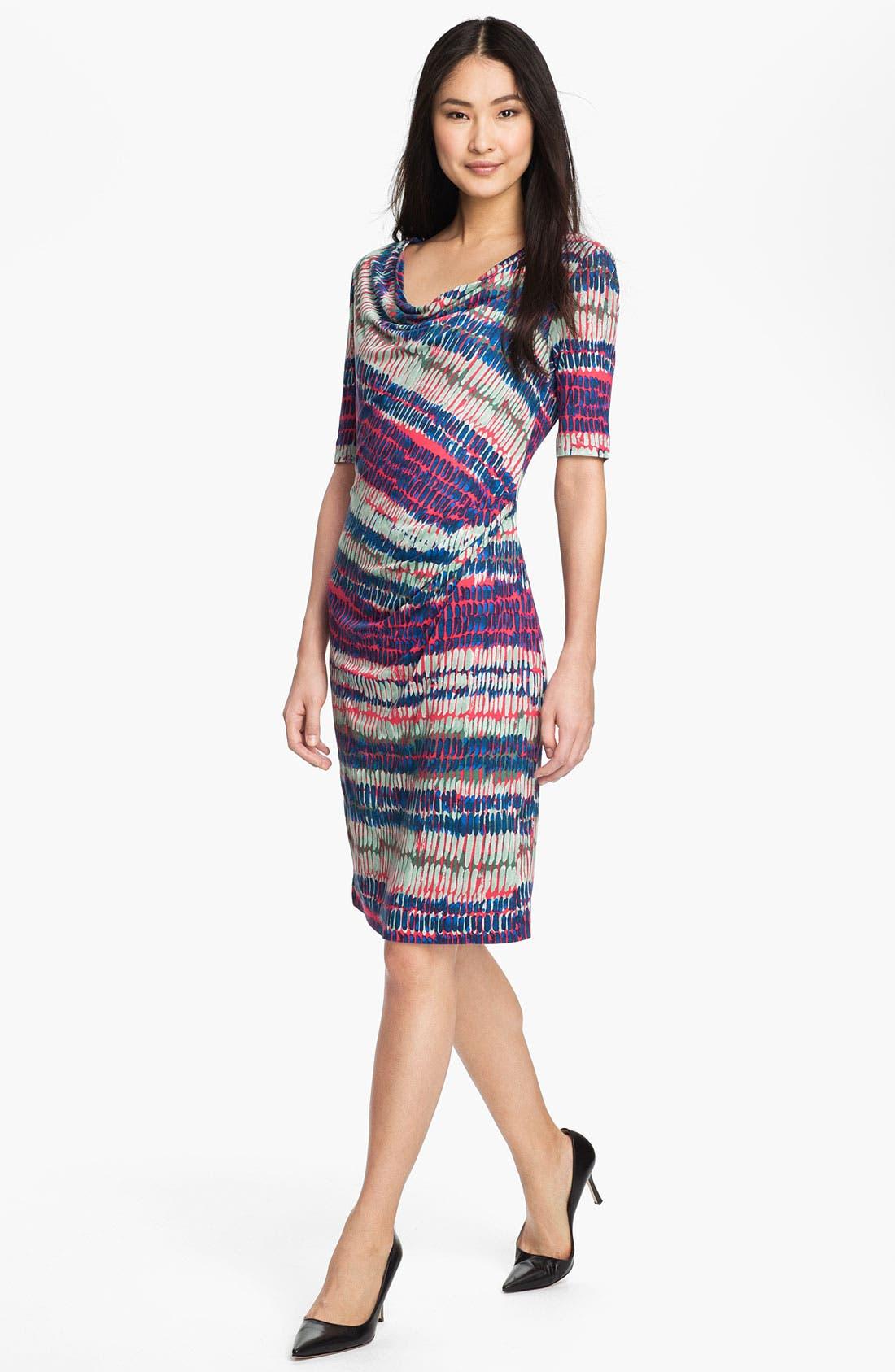 Alternate Image 1 Selected - BOSS HUGO BOSS Drape Neck Modal Dress