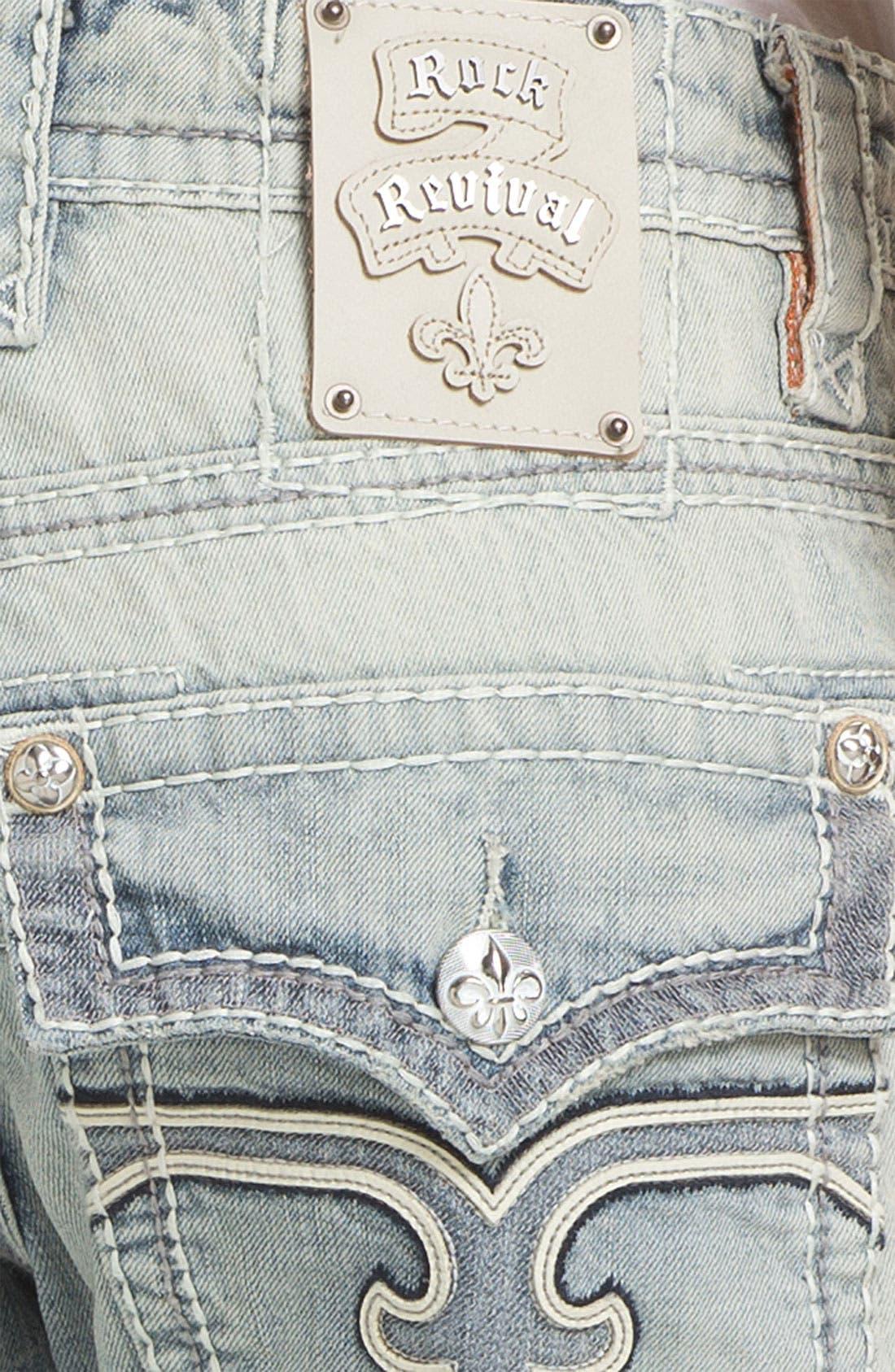Alternate Image 4  - Rock Revival 'Rocky T' Straight Leg Jeans (Light Blue)