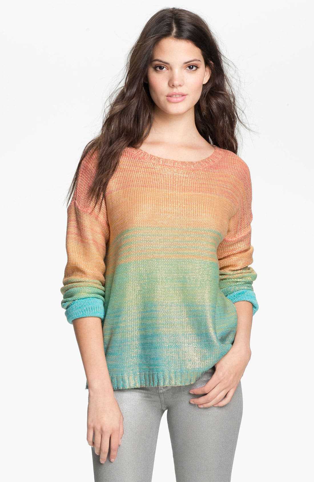 Main Image - Willow & Clay 'Salt Water Taffy' Ombré Stripe Sweater