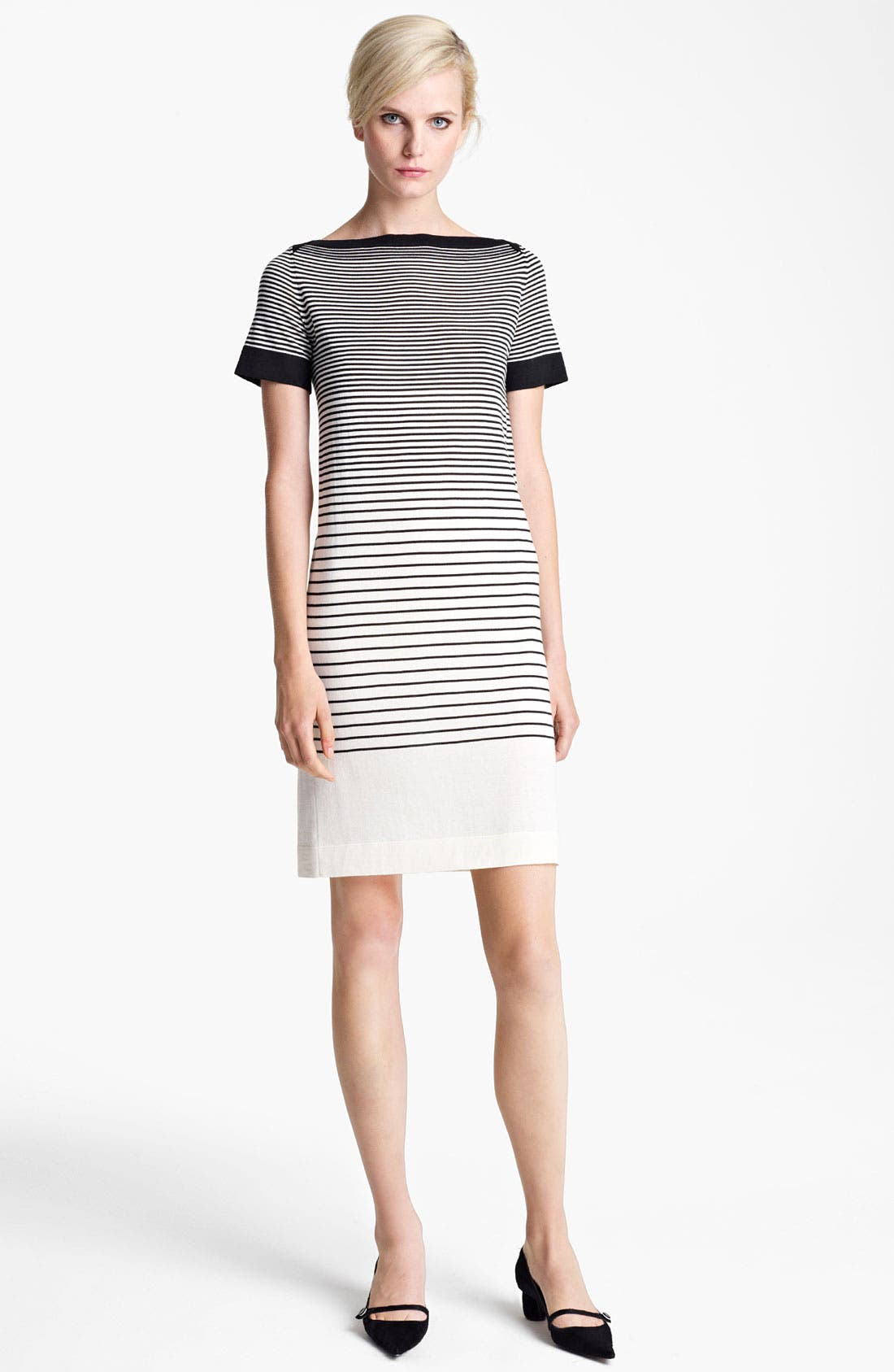 Main Image - MARC JACOBS Stripe Short Sleeve Dress