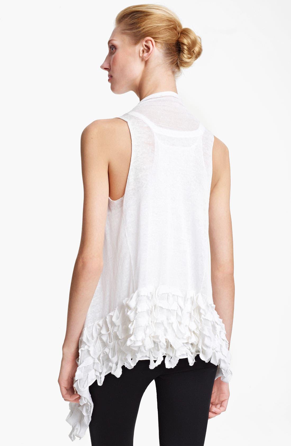 Alternate Image 2  - Donna Karan Collection Ruffled Linen Blend Cozy