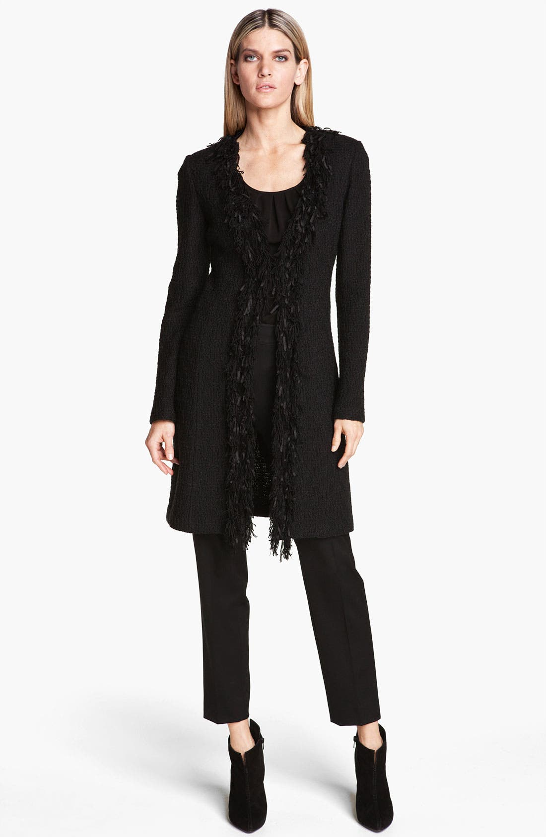Alternate Image 2  - St. John Collection Fringe Trim Tweed Jacket