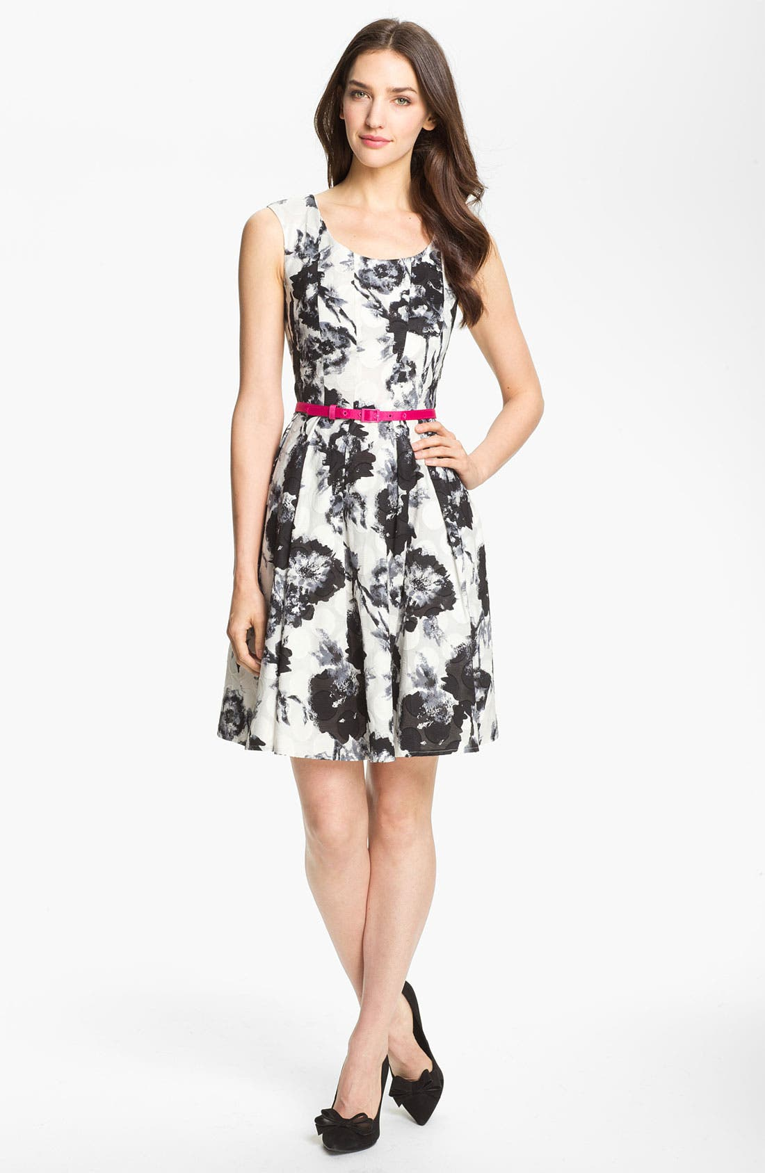 Alternate Image 1 Selected - Donna Ricco Belted Print Dress