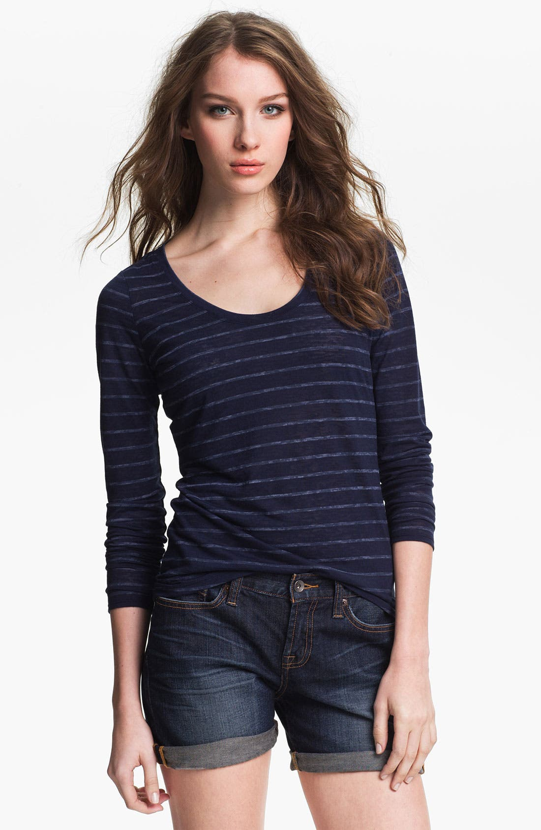 Alternate Image 1 Selected - Two by Vince Camuto Stripe Tee