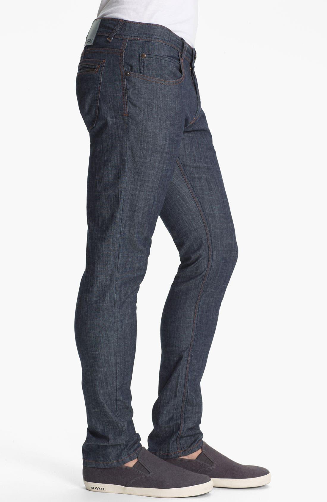 Alternate Image 3  - Ezekiel 'Chopper' Slim Straight Leg Jeans (Dark Indigo)