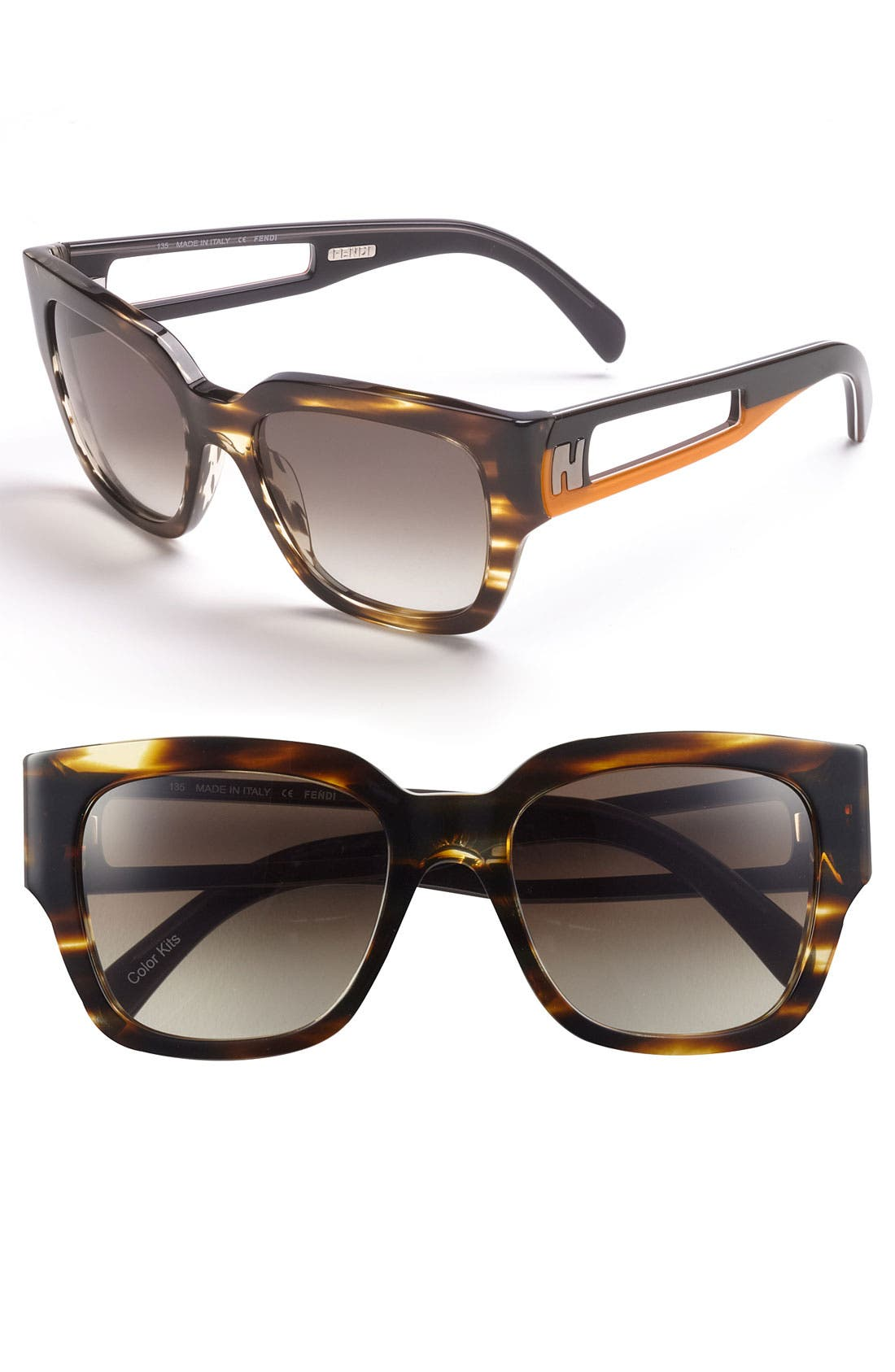 Alternate Image 1 Selected - Fendi 52mm Retro Sunglasses