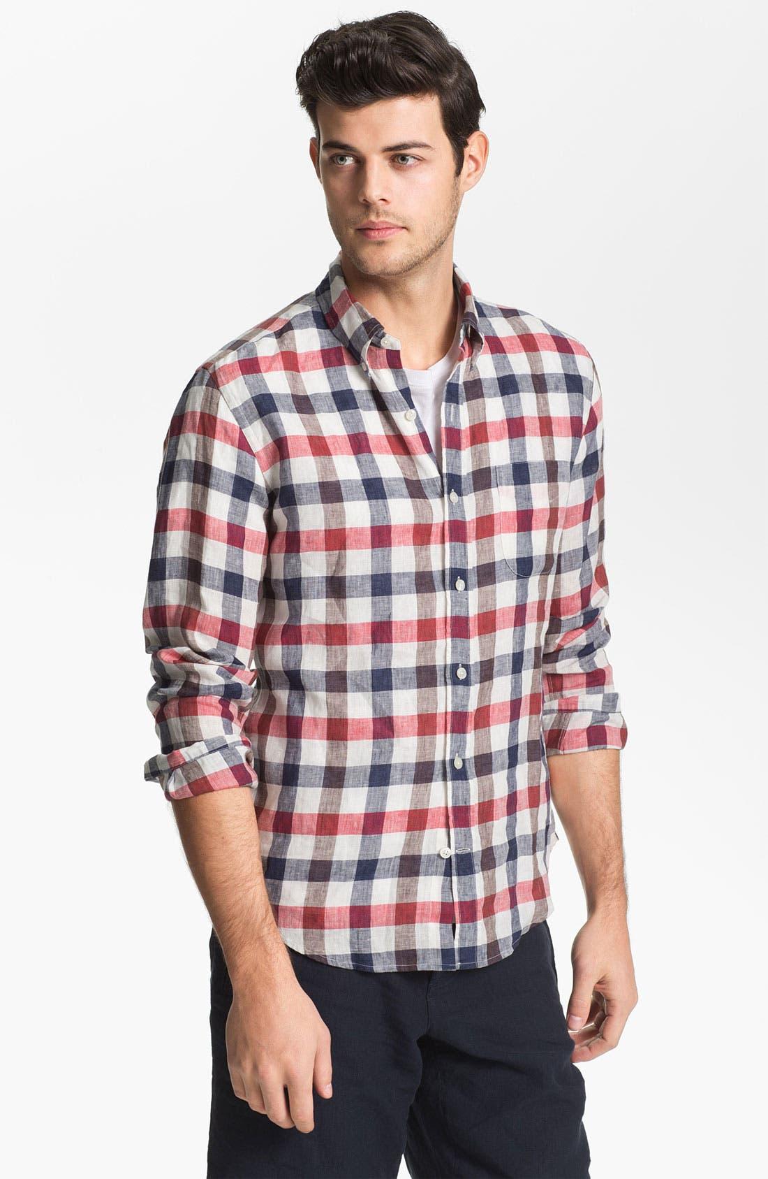 Main Image - Vince Regular Fit Linen Sport Shirt