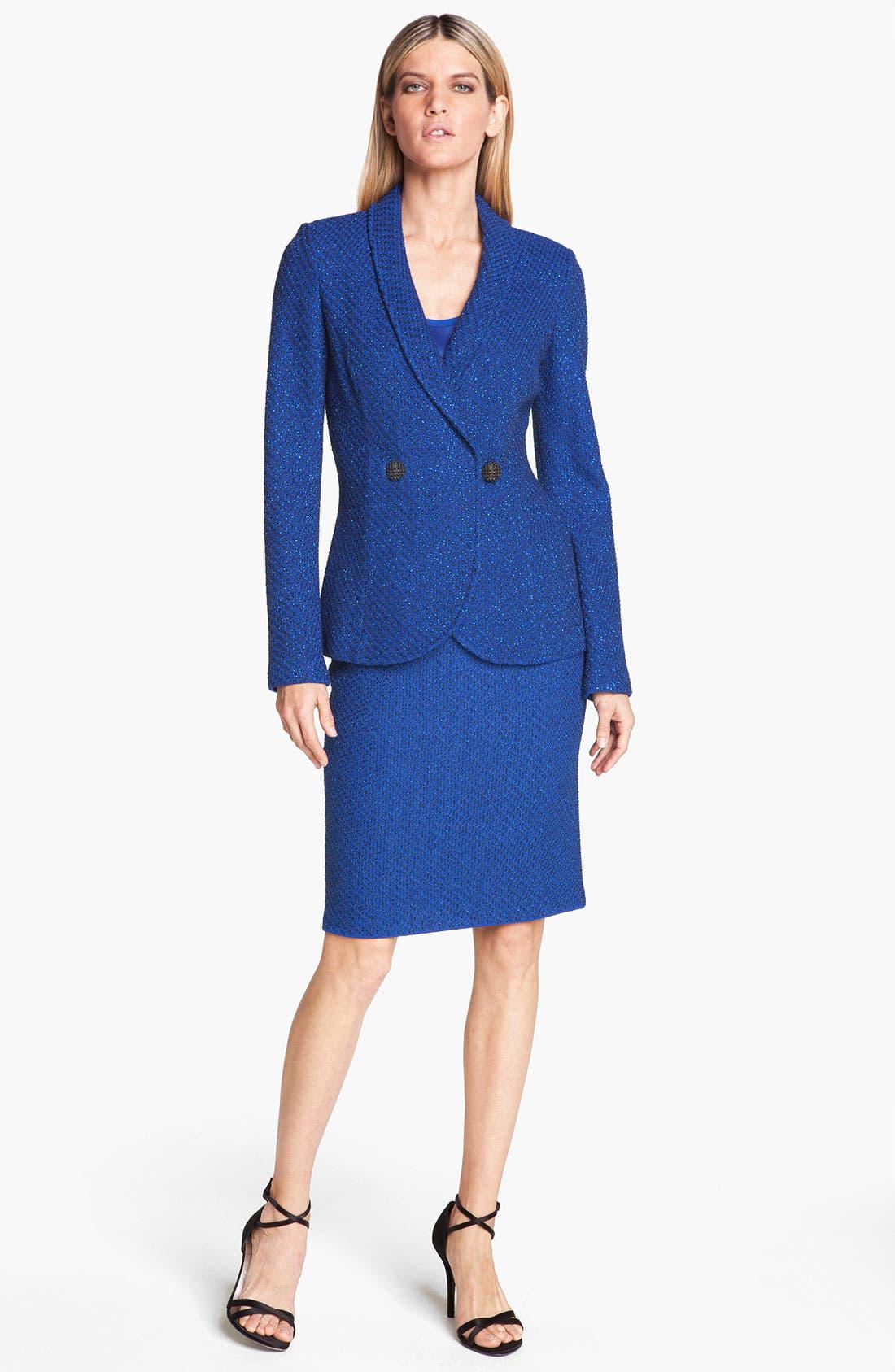 Alternate Image 2  - St. John Collection Ivy Tweed Pencil Skirt