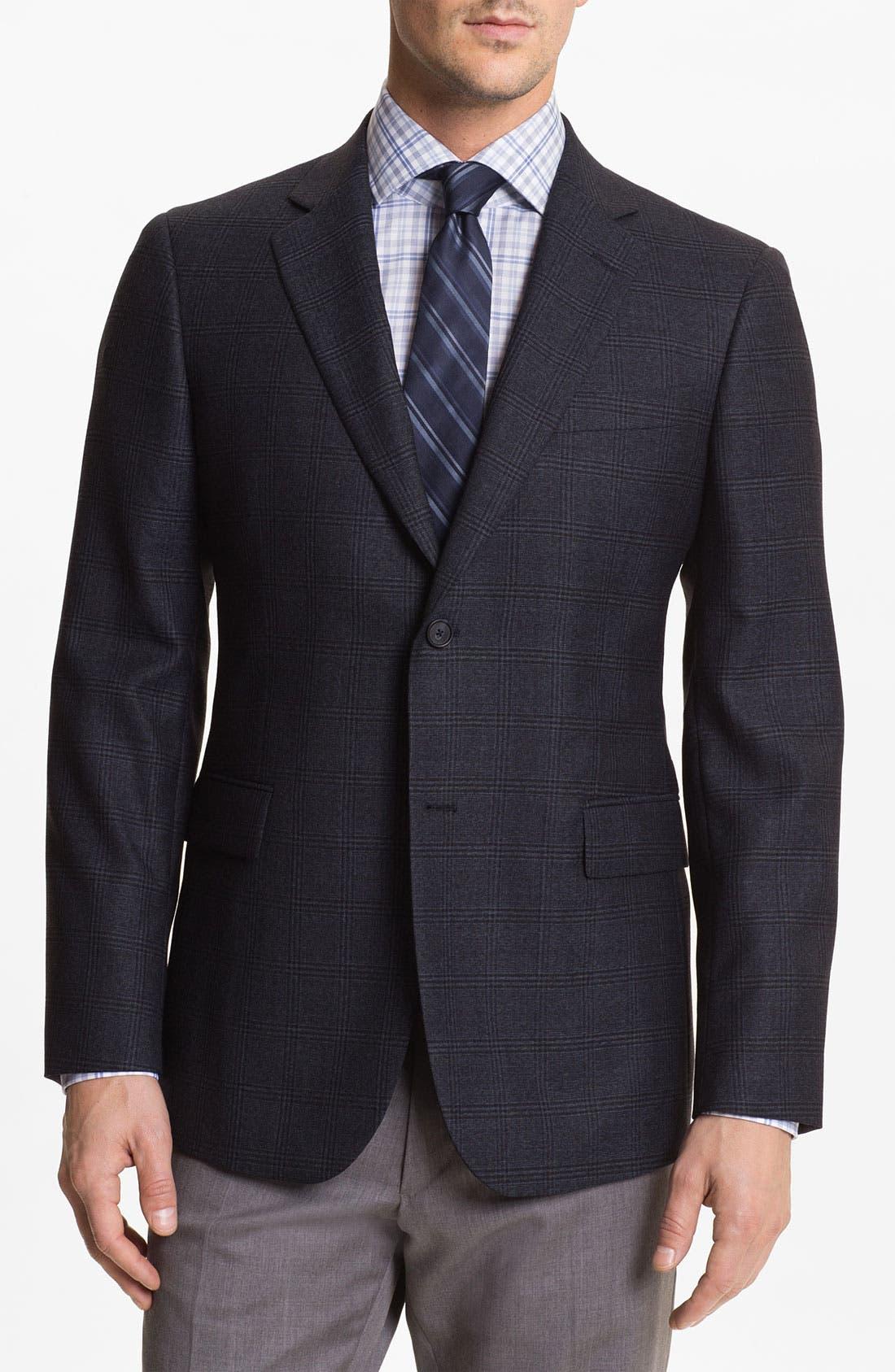 Alternate Image 1 Selected - John W. Nordstrom® Plaid Wool Sportcoat