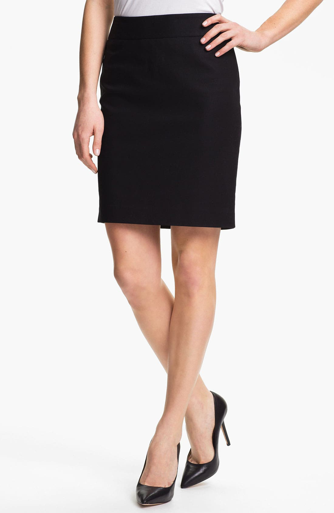 Alternate Image 1 Selected - Vince Camuto Stretch Cotton Skirt