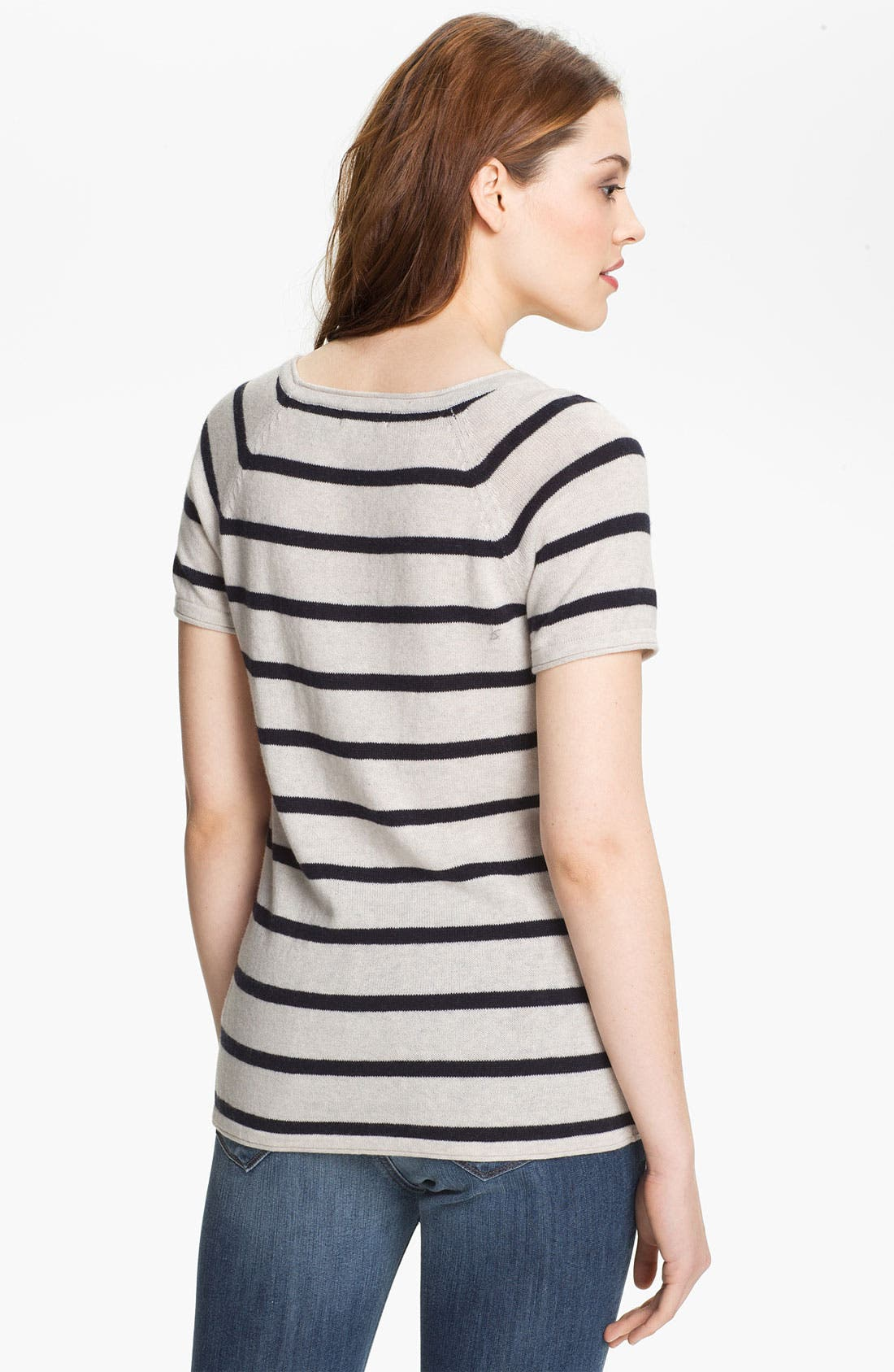 Alternate Image 2  - Press Scoop Neck Stripe Sweater