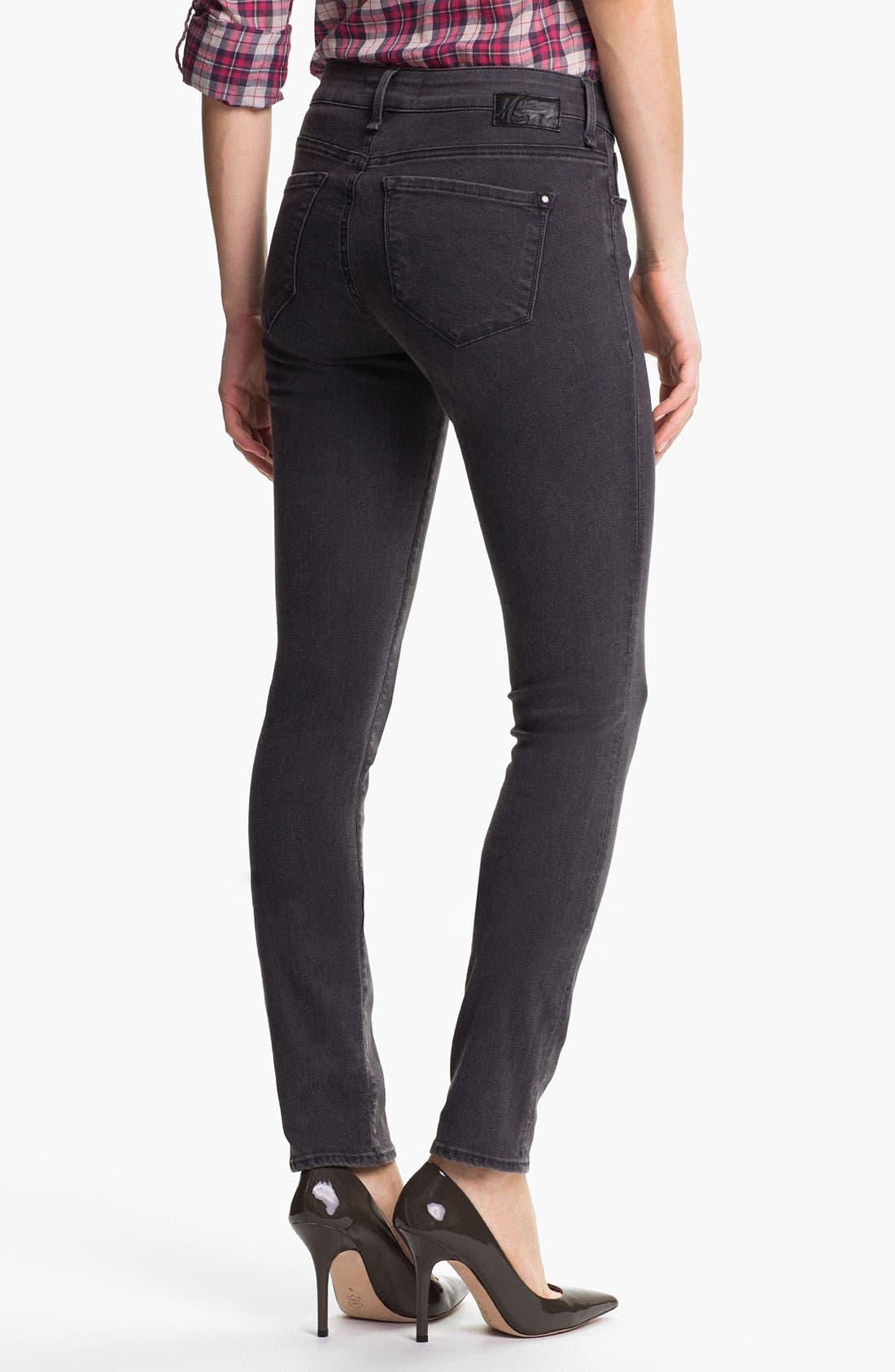 Alternate Image 2  - Mavi Jeans 'Serena' Skinny Jeans (Grey Shanti)