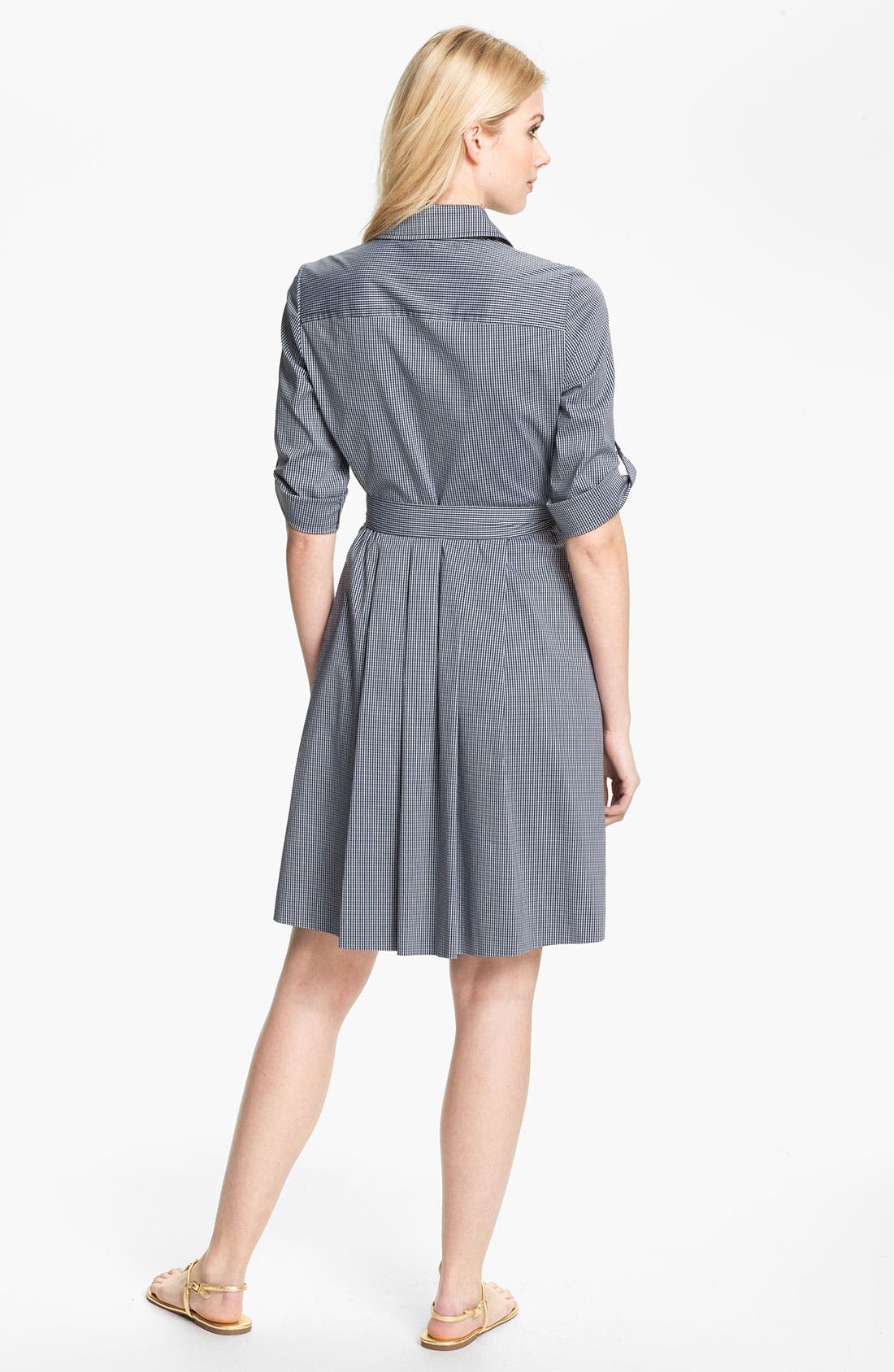 Alternate Image 2  - Tory Burch 'Blythe' Stretch Poplin Shirtdress