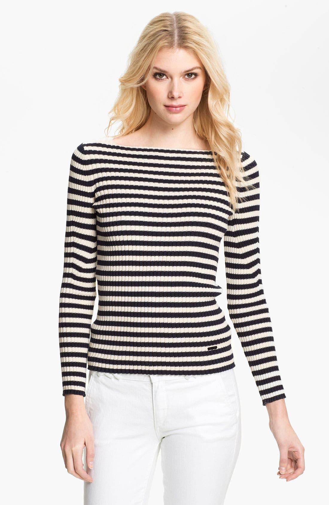 Main Image - Tory Burch 'Verona' Stripe Sweater