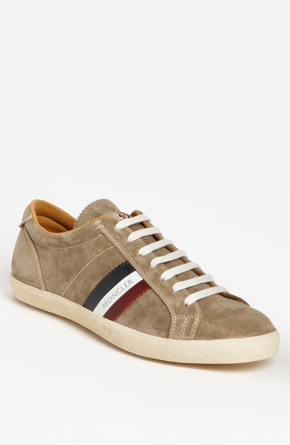 Main Image - Moncler 'Monaco' Suede Sneaker