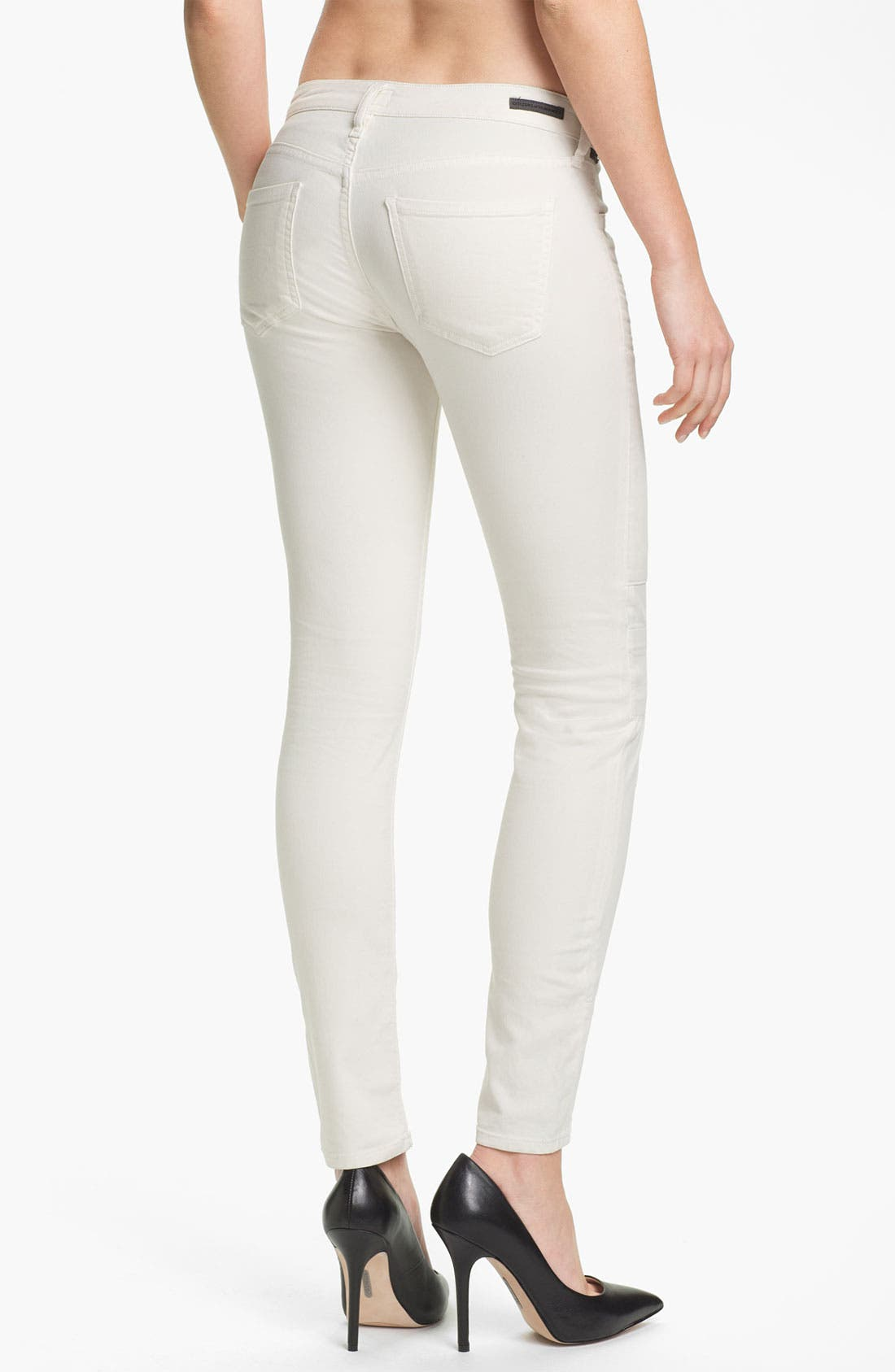 Alternate Image 2  - Citizens of Humanity 'Logan' Moto Skinny Jeans (Ivory)