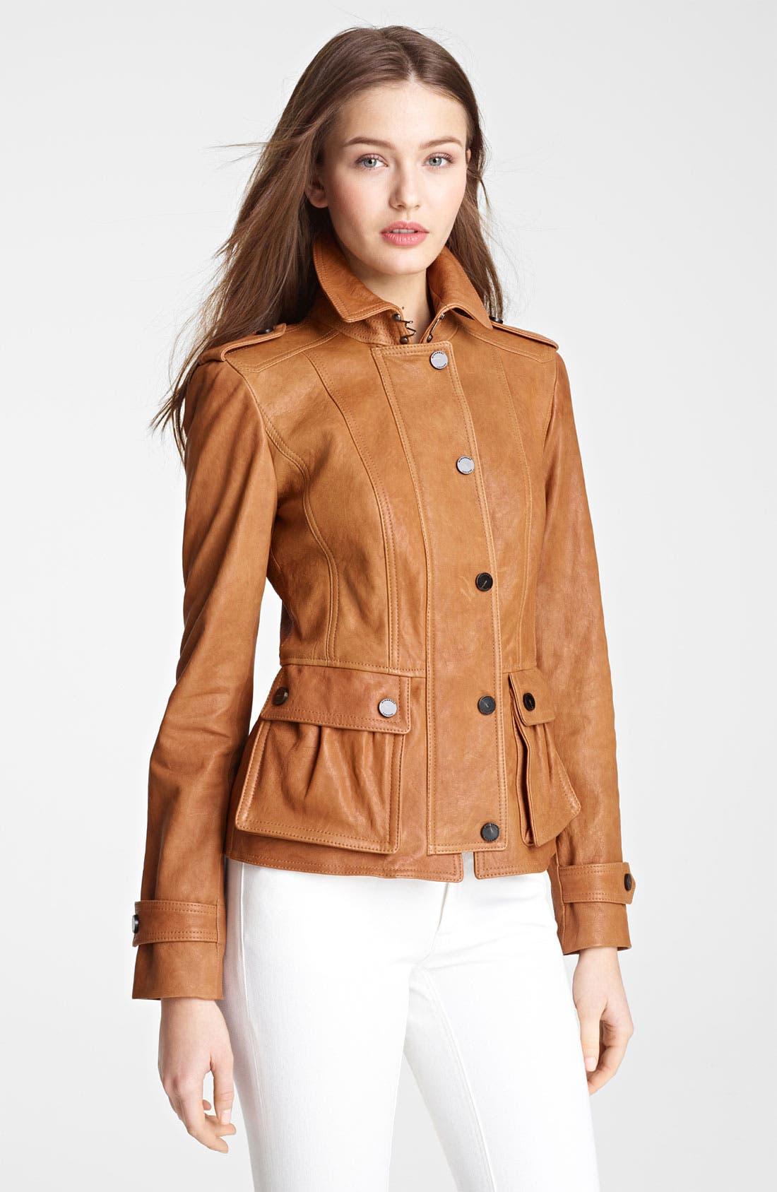 Alternate Image 1 Selected - Burberry London Leather Jacket